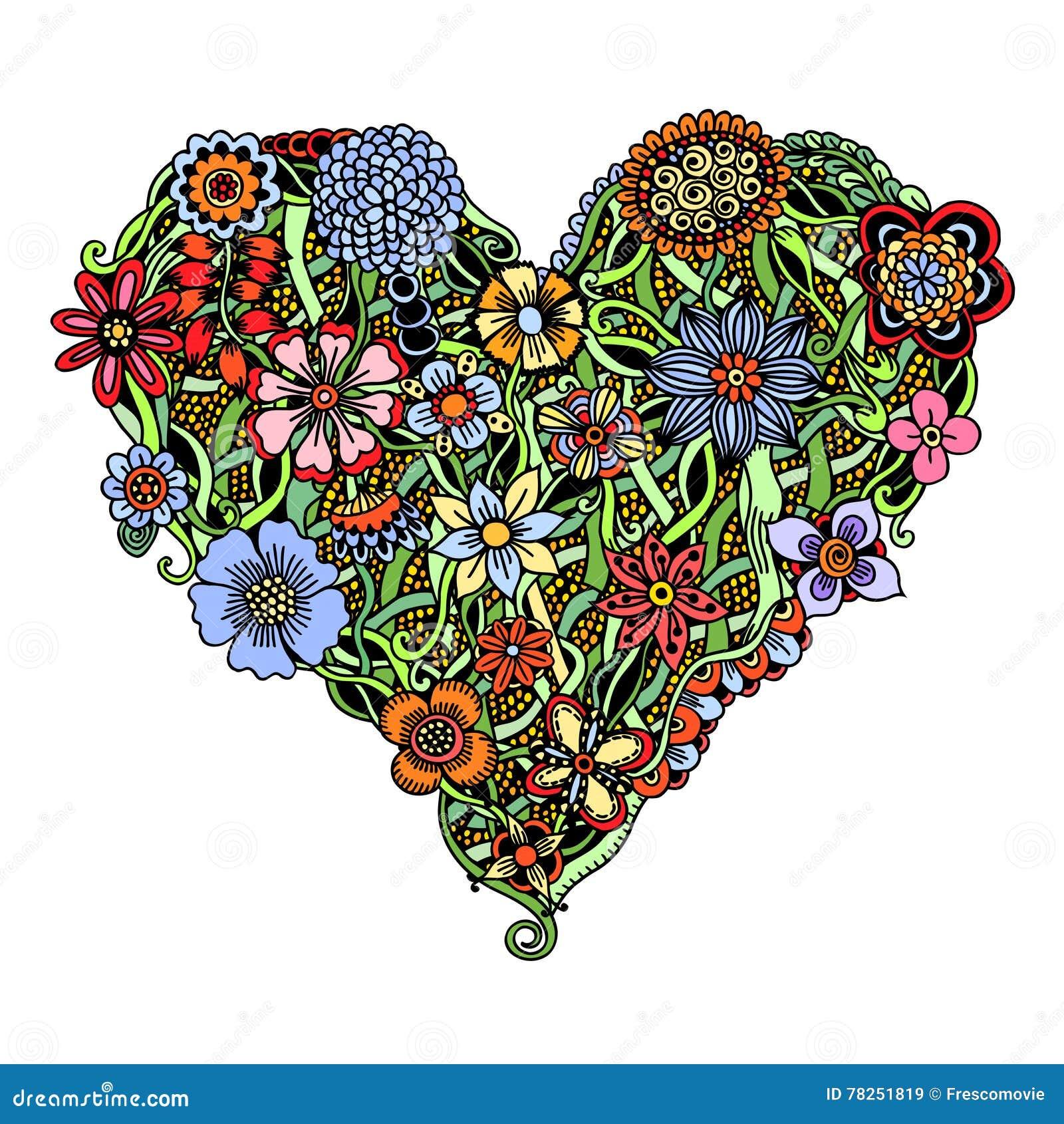 Φωτεινή καρδιά λουλουδιών