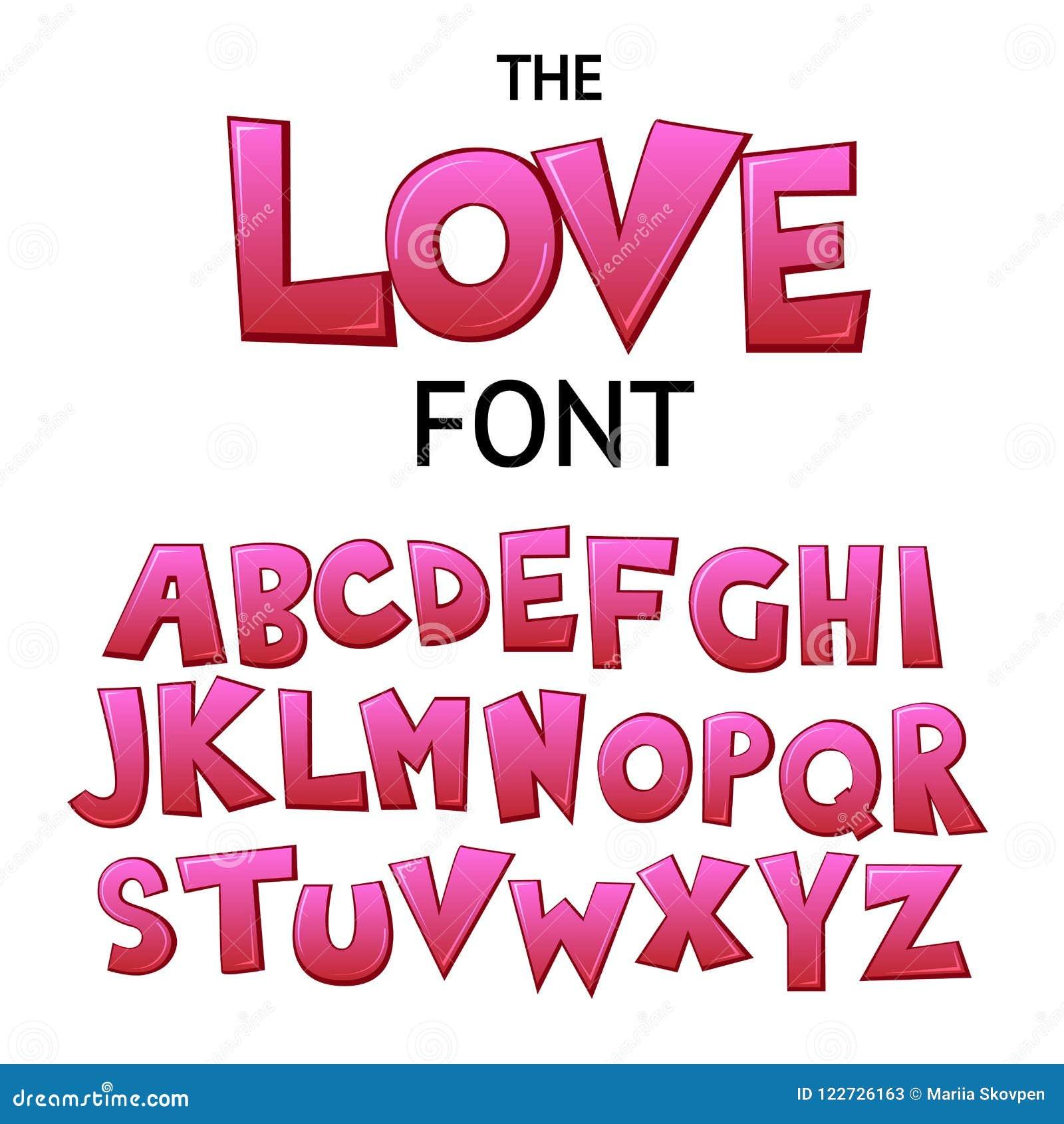 Φωτεινή πηγή γκράφιτι κινούμενων σχεδίων ζωηρόχρωμη κωμική doodle, αλφάβητο αγάπης επίσης corel σύρετε το διάνυσμα απεικόνισης