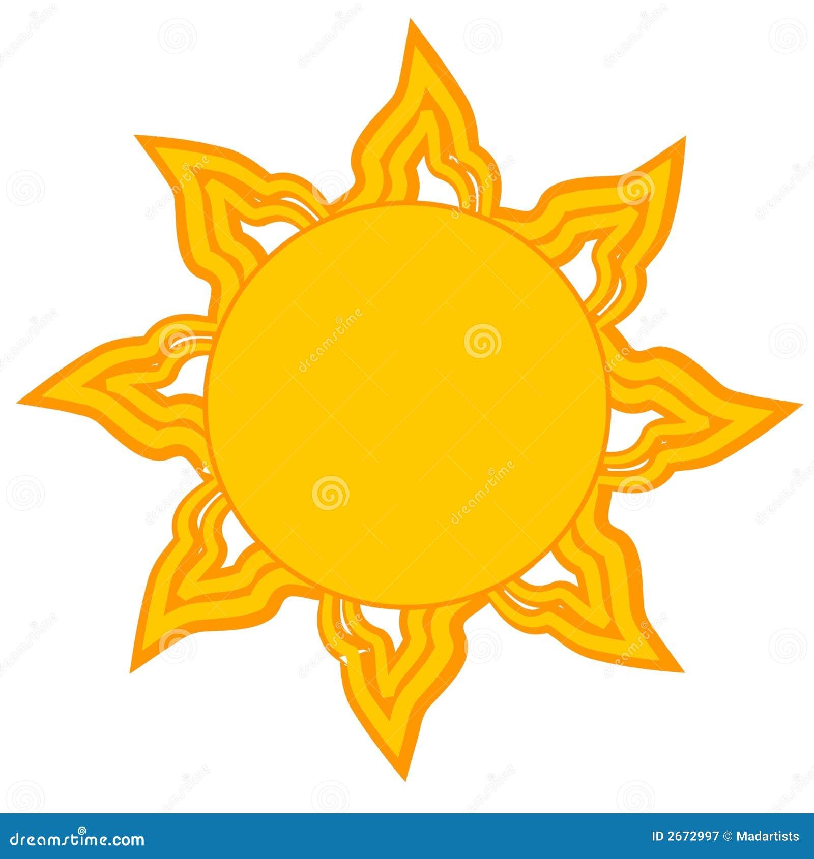 φωτεινός ήλιος συνδετήρων τέχνης κίτρινος