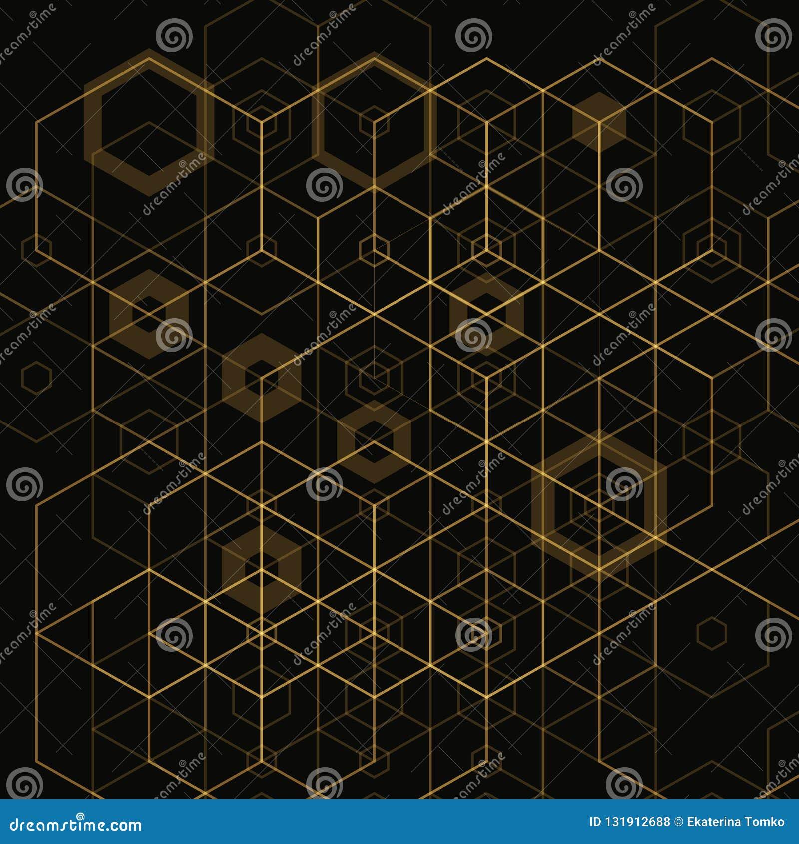 Φωτεινό αφηρημένο υπόβαθρο techno με hexagons 10 eps