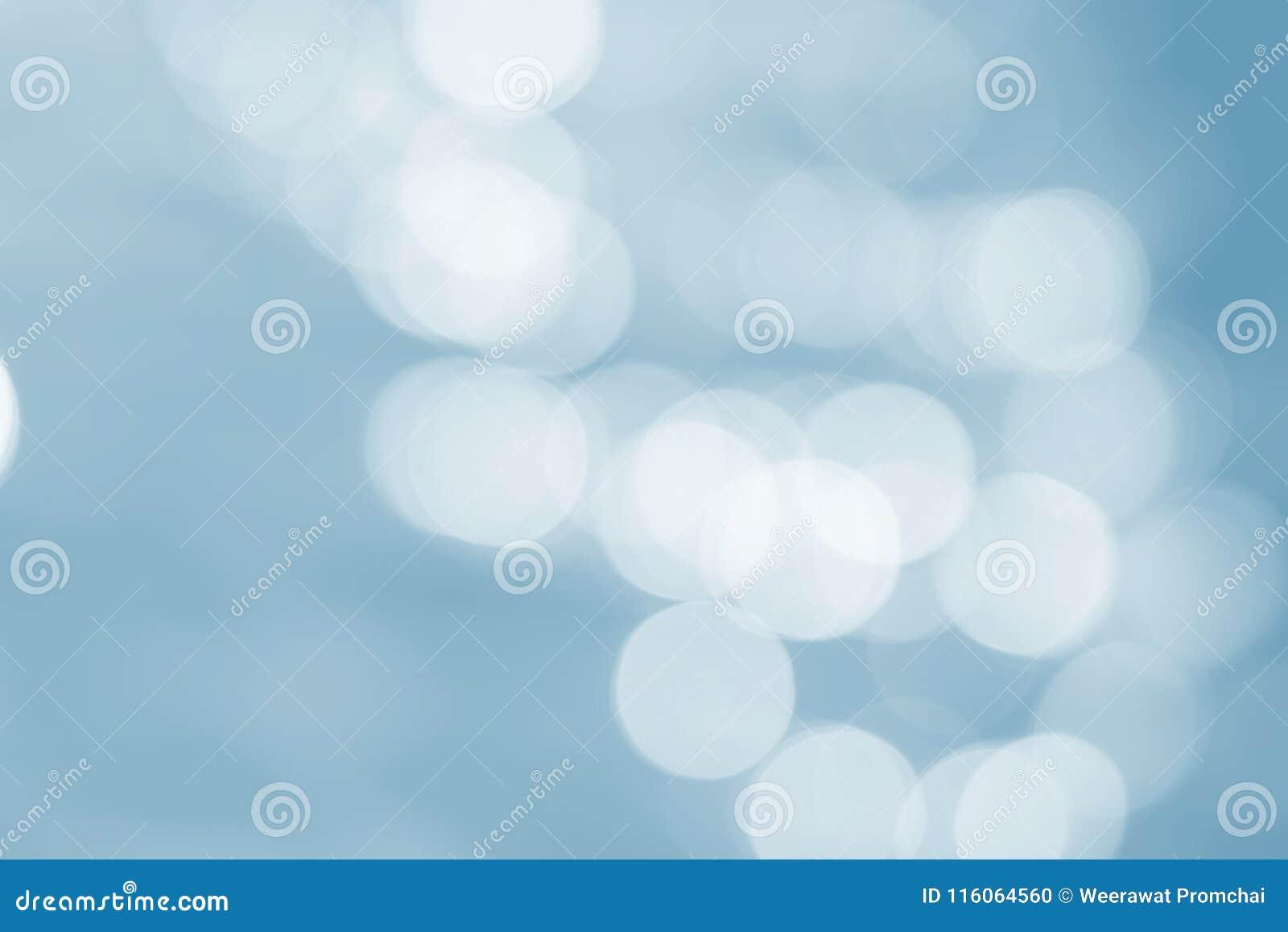 Φωτεινό ελαφρύ αφηρημένο μπλε υπόβαθρο χρώματος bokeh