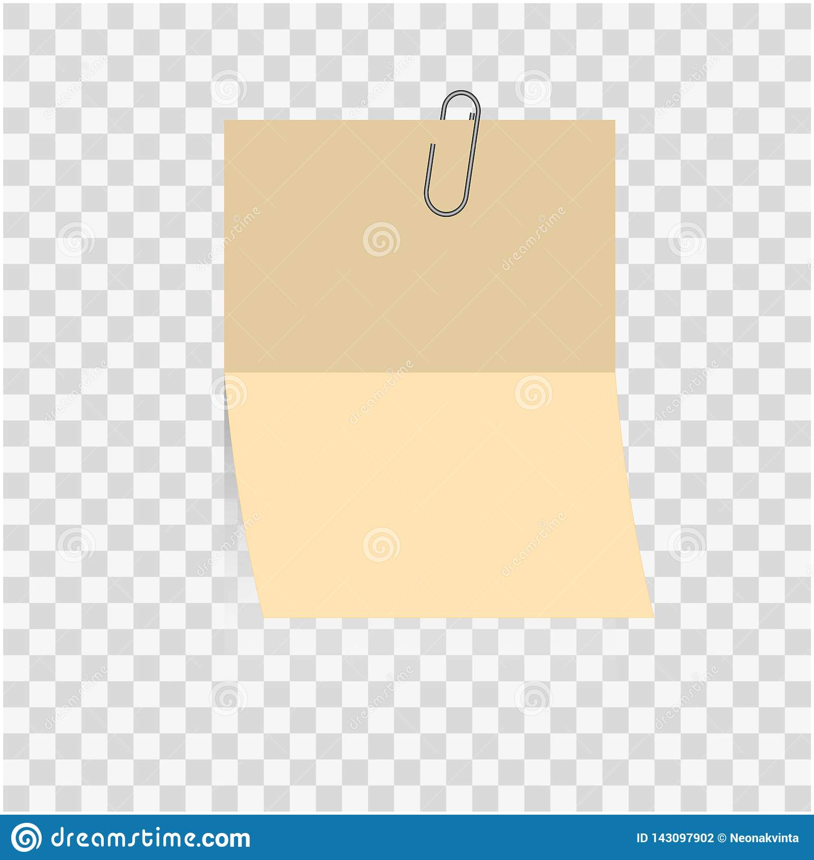 Φωτεινό πλαίσιο ή ραβδί σημειώσεων εγγράφου κενό στο σφραγισμένο συνδετήρα εγγράφου αρχείων που απομονώνεται στο υπόβαθρο