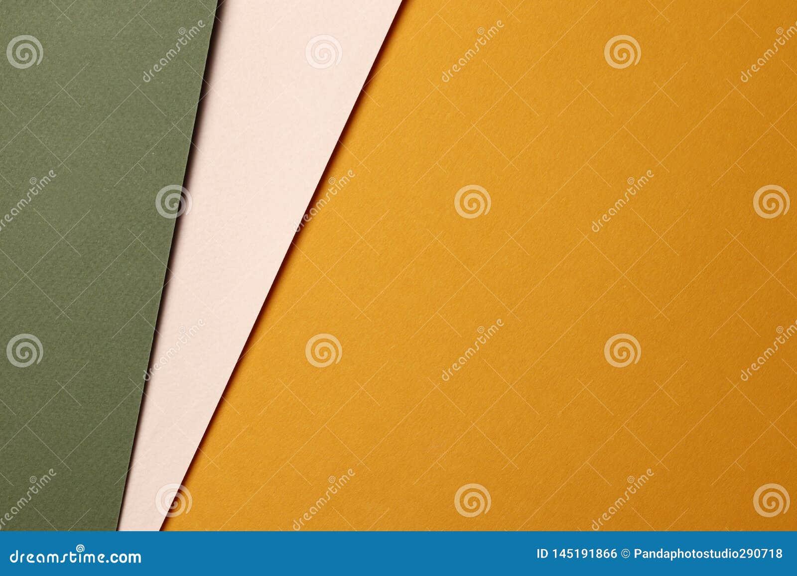 Φωτεινό πορτοκαλί και πράσινο αφηρημένο κενό υπόβαθρο εγγράφου