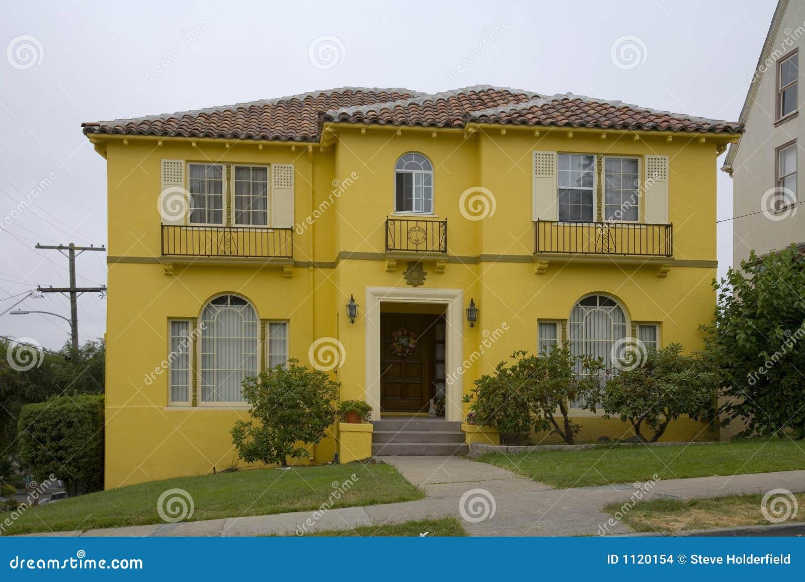 φωτεινό σπίτι κίτρινο
