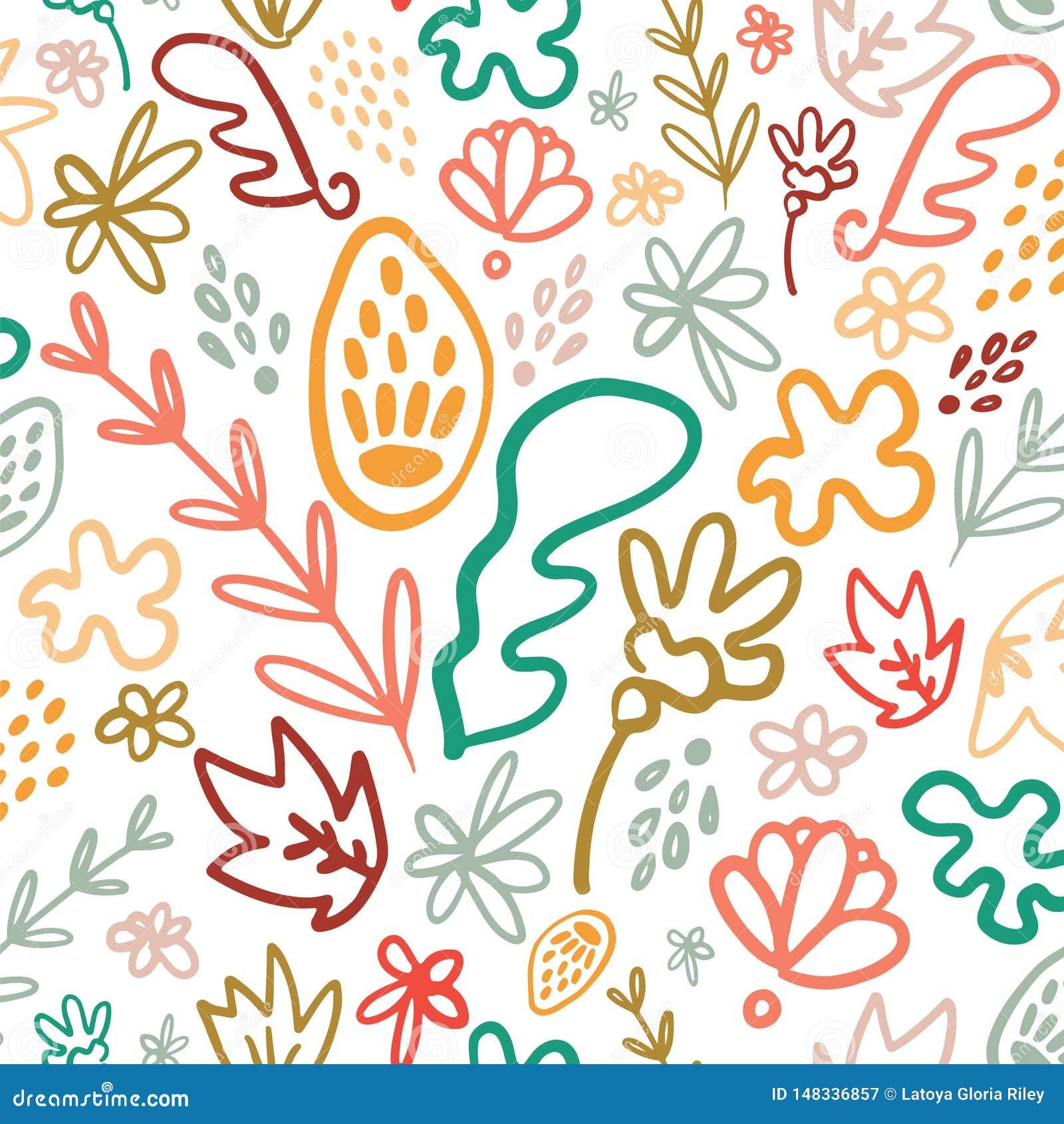 Φωτεινό floral άνευ ραφής σχέδιο ποτ πουρί