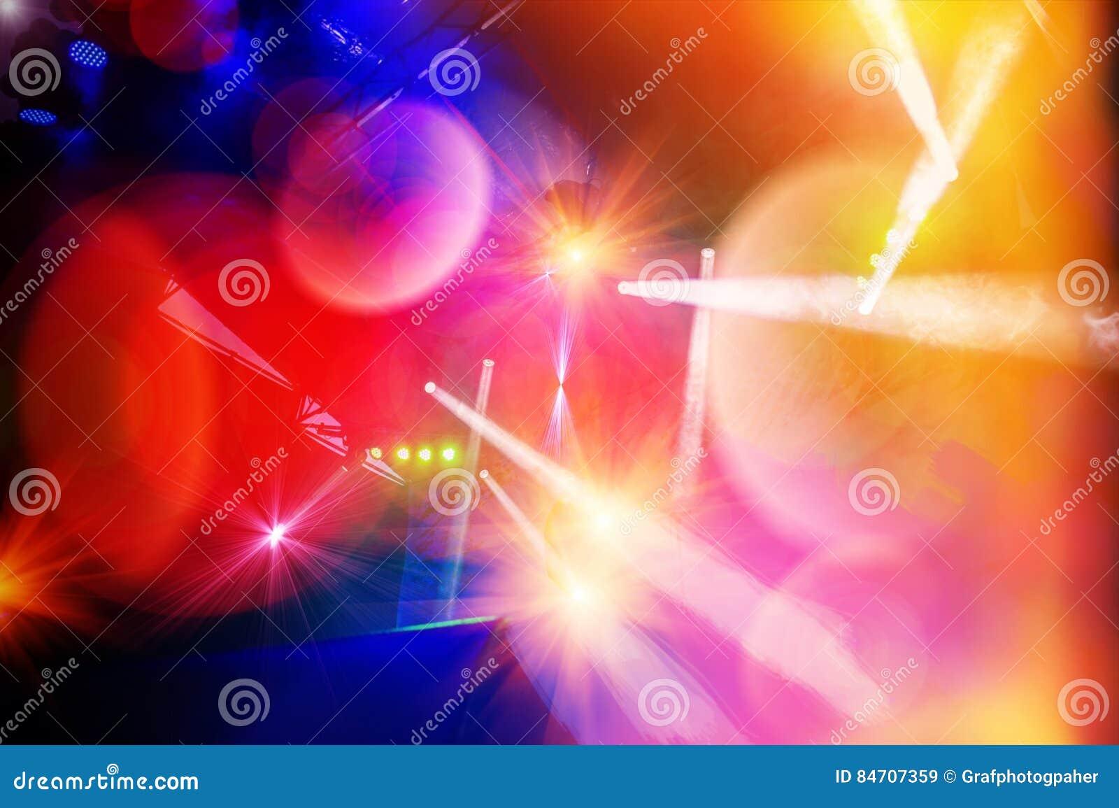 Φωτισμός σκηνών συναυλίας και αποτελέσματα φωτισμού