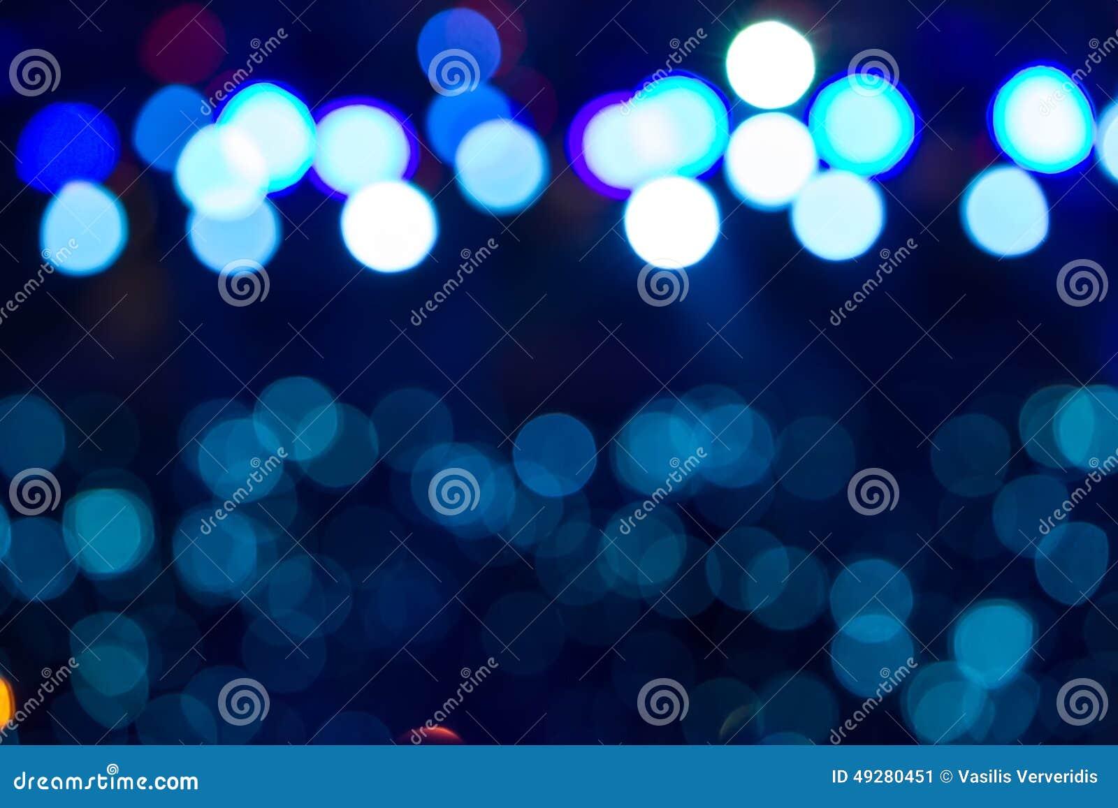 Φωτισμός συναυλίας ψυχαγωγίας Defocused στη σκηνή, bokeh
