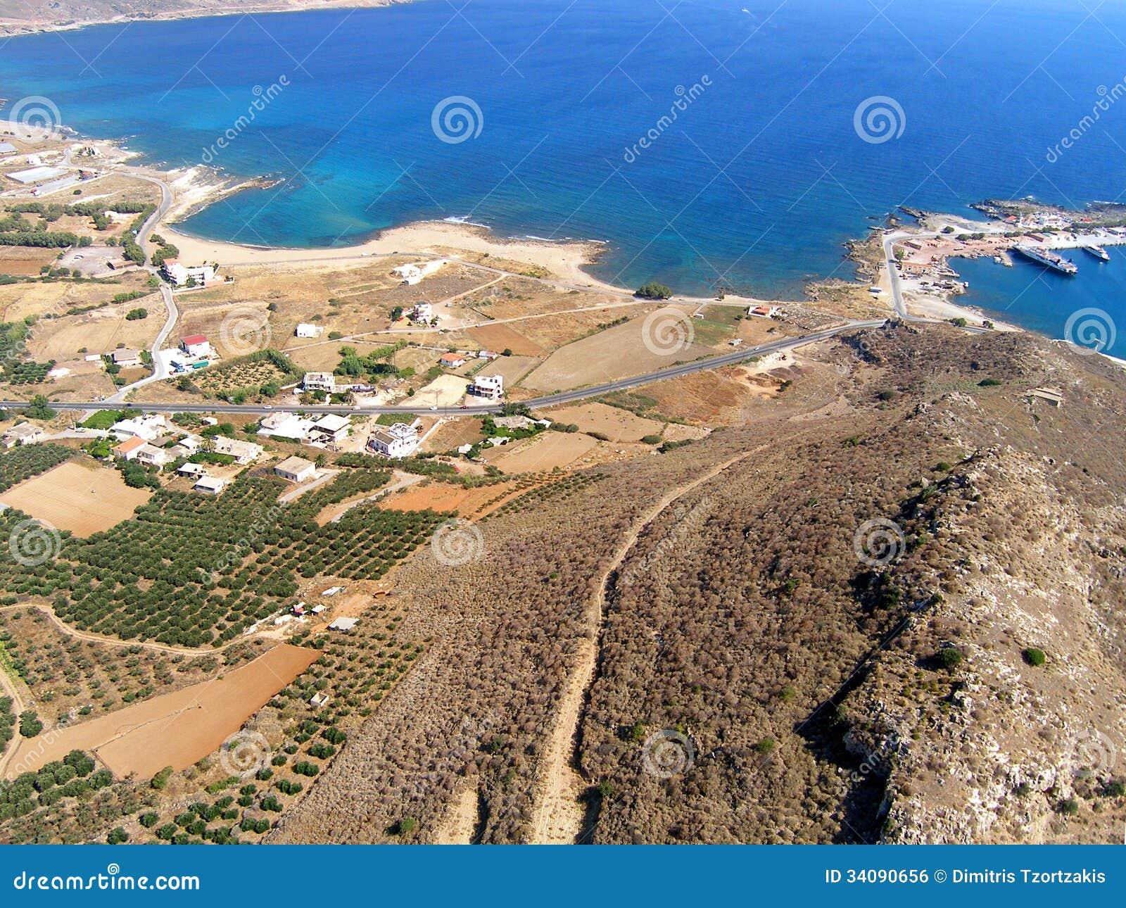 Φωτογραφία αέρα, Kissamos, Chania, Κρήτη, Ελλάδα