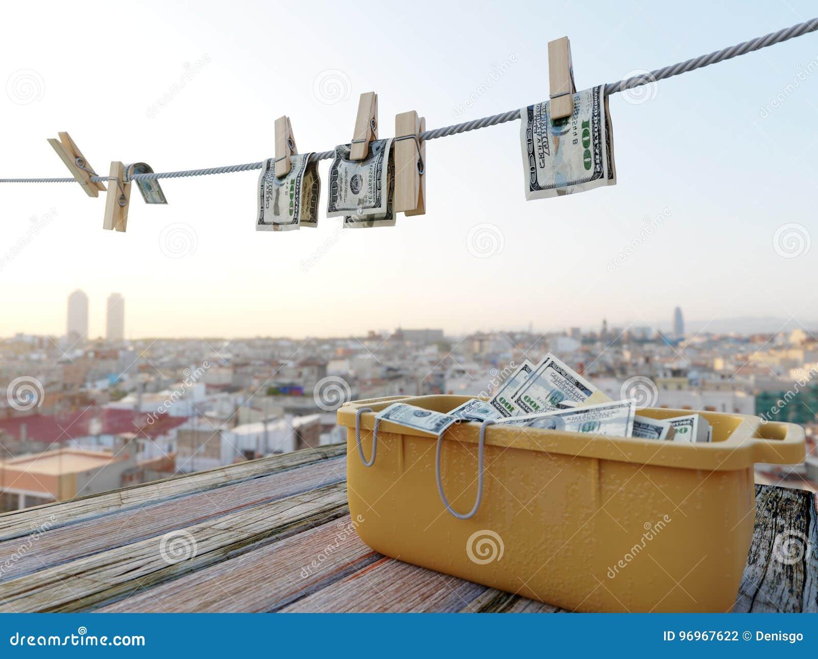 Φωτογραφία υποβάθρου έννοιας χρημάτων πλύσης