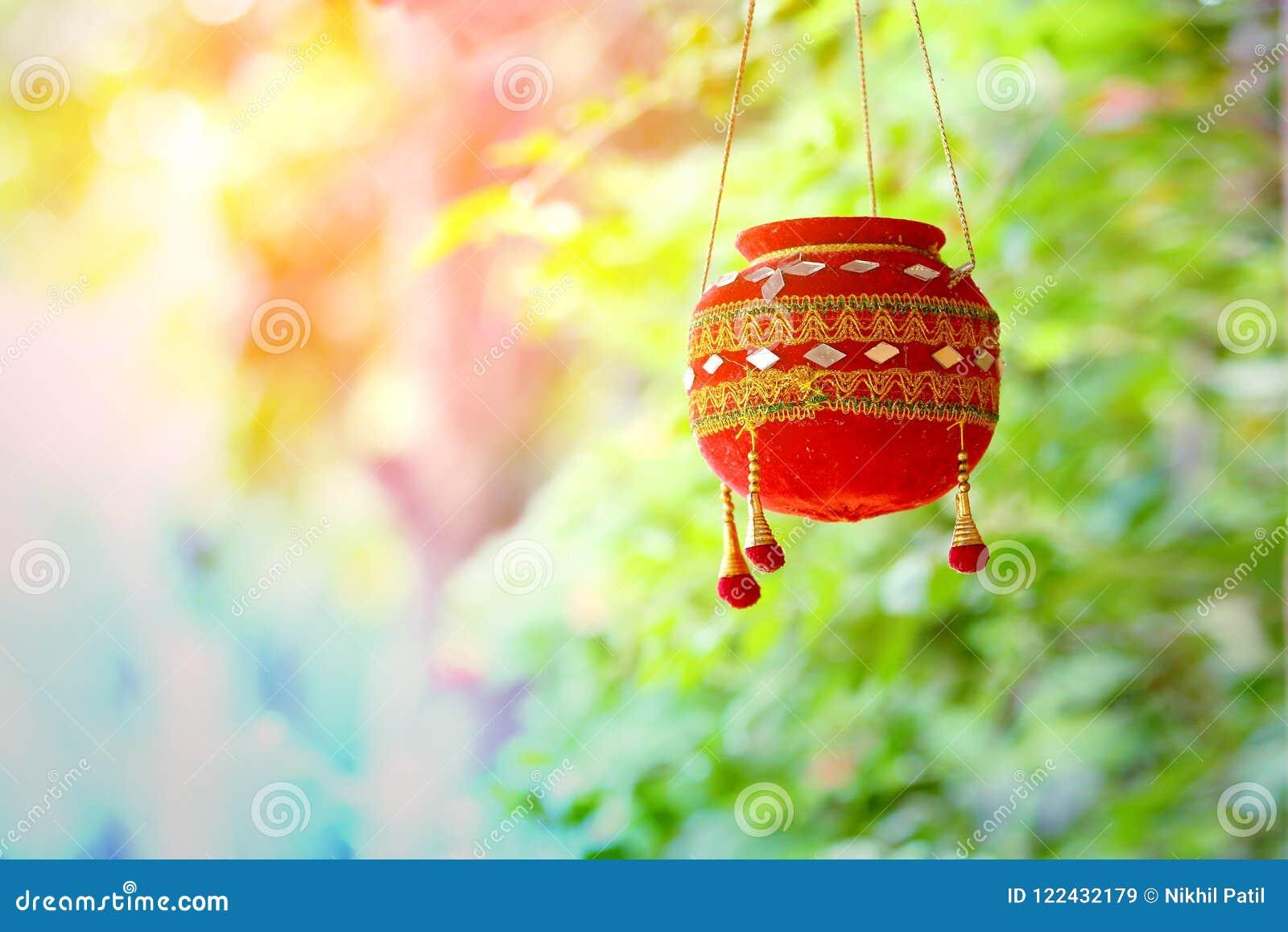 Φωτογραφία dahi HANDI στο φεστιβάλ gokulashtami στην Ινδία, η οποία είναι ημέρα γέννησης Λόρδου Shri Krishna ` s