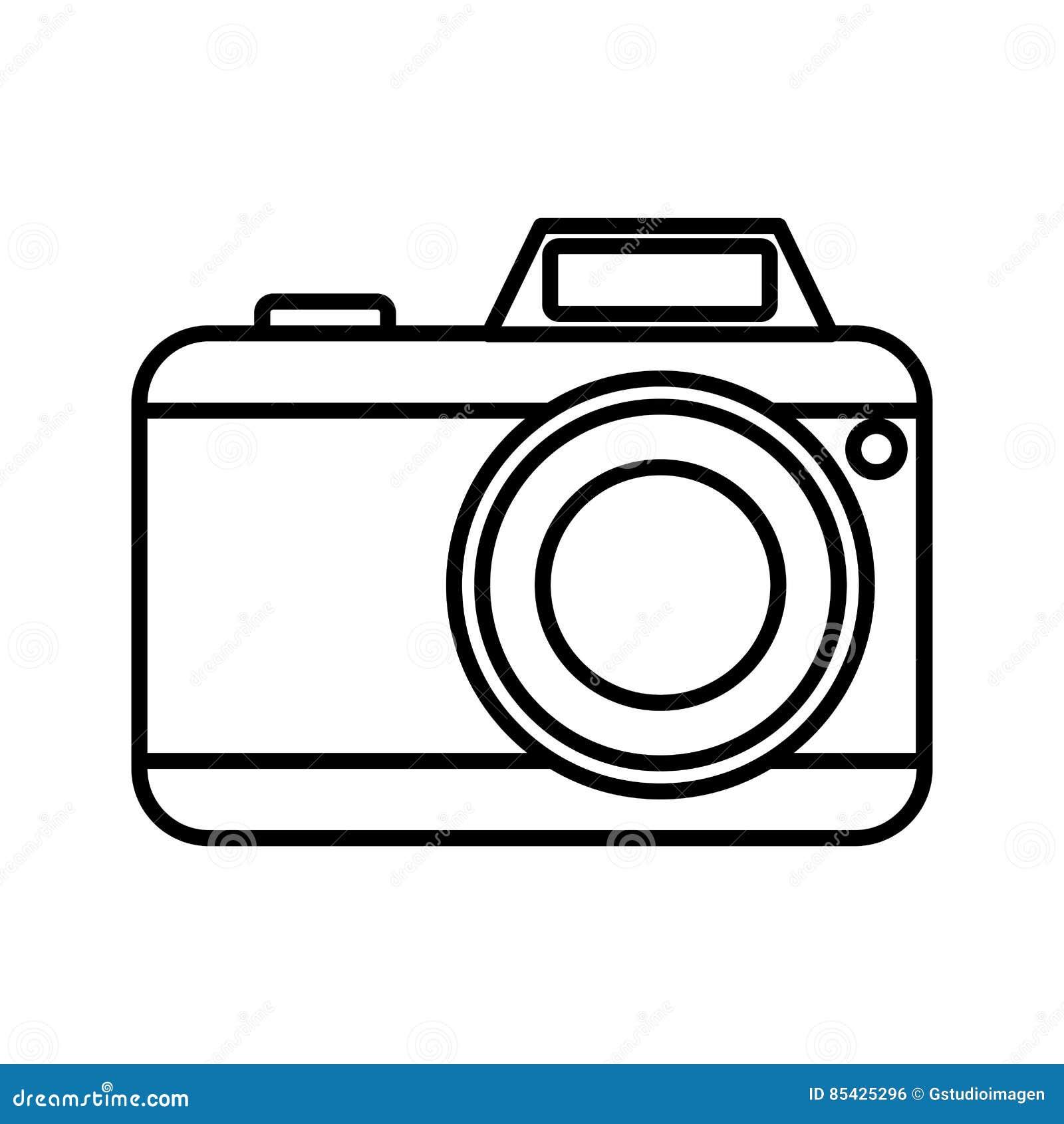 φωτογραφική κάμερα με το εικονίδιο λάμψης