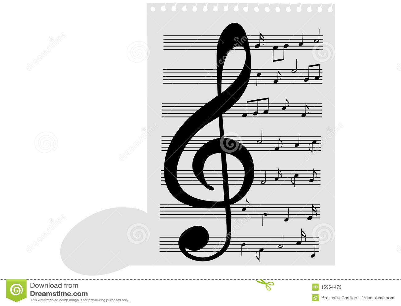 φύλλο σημειώσεων μουσι&ka
