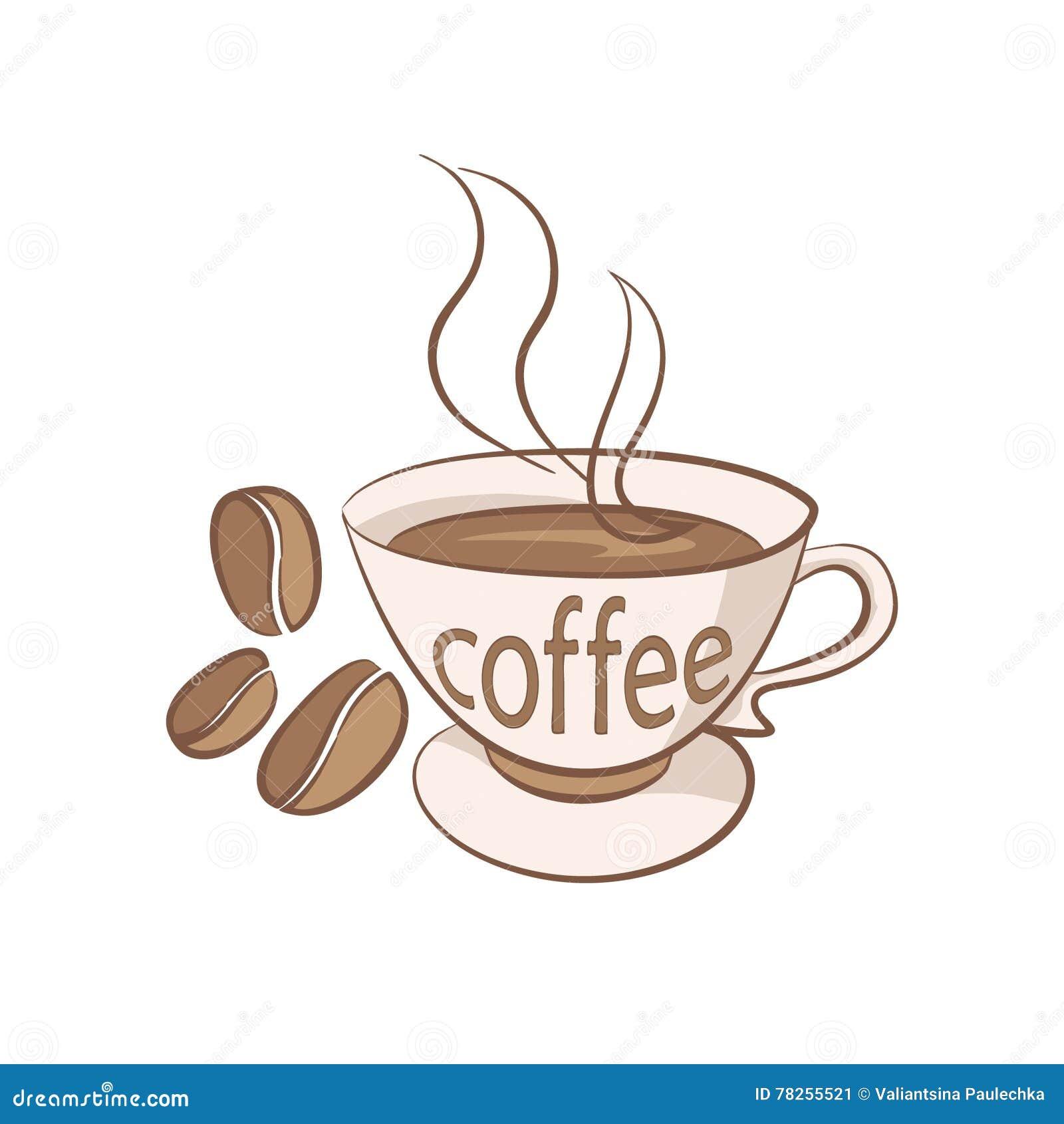 Φλιτζάνι του καφέ με τη διανυσματική απεικόνιση σιταριών