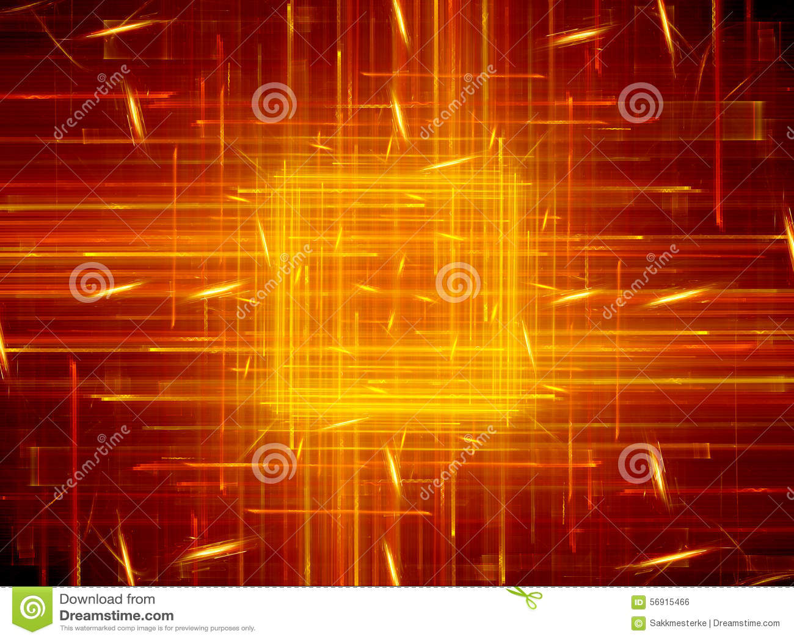 Φλογερό καμμένος τετράγωνο με τη νέα τεχνολογία γραμμών