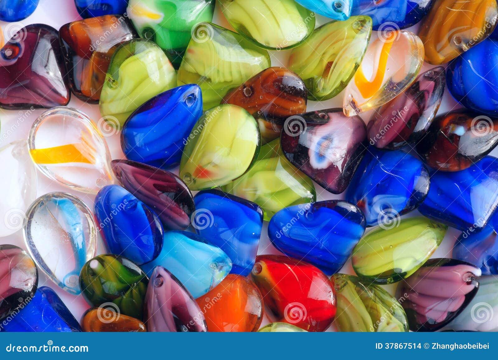 Χάντρες γυαλιού χρώματος