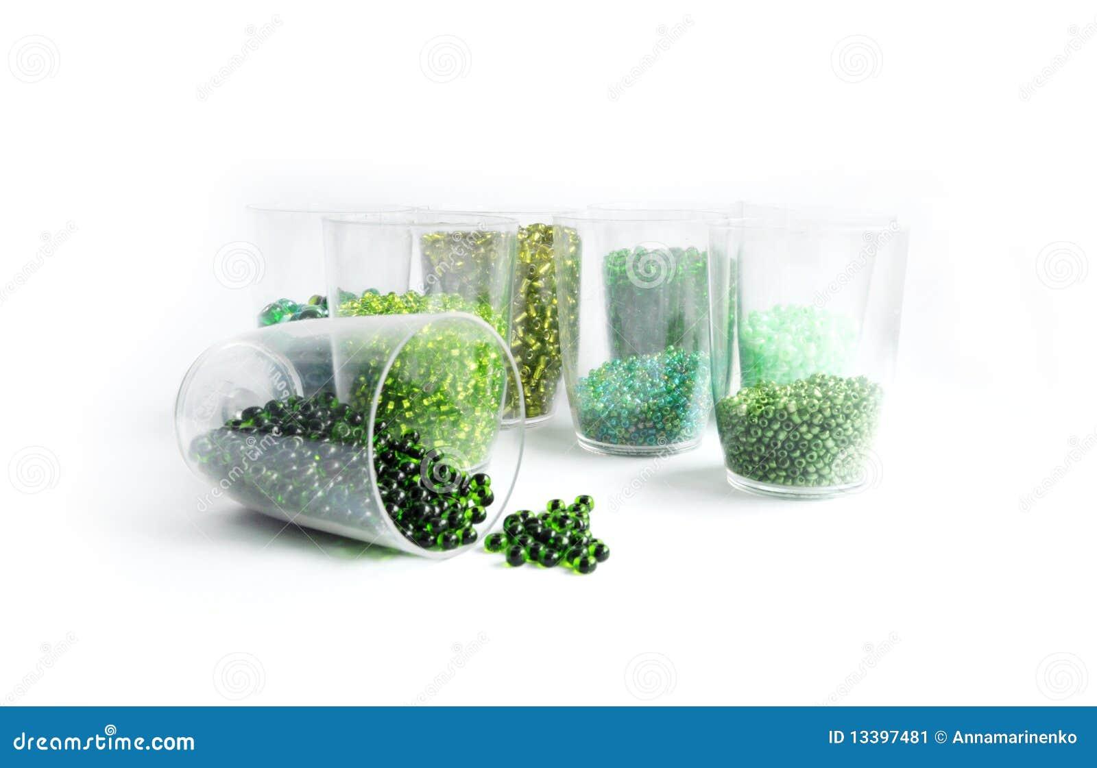 χάντρες πράσινες