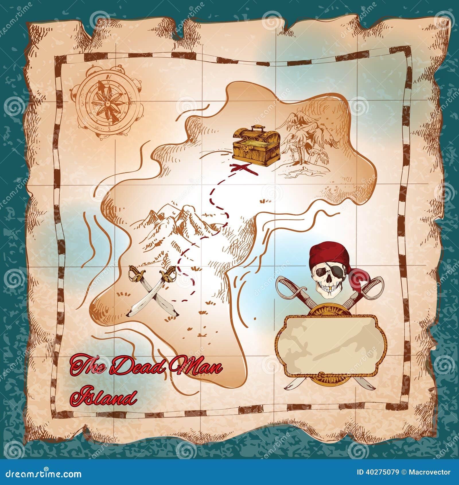 Χάρτης θησαυρών πειρατών