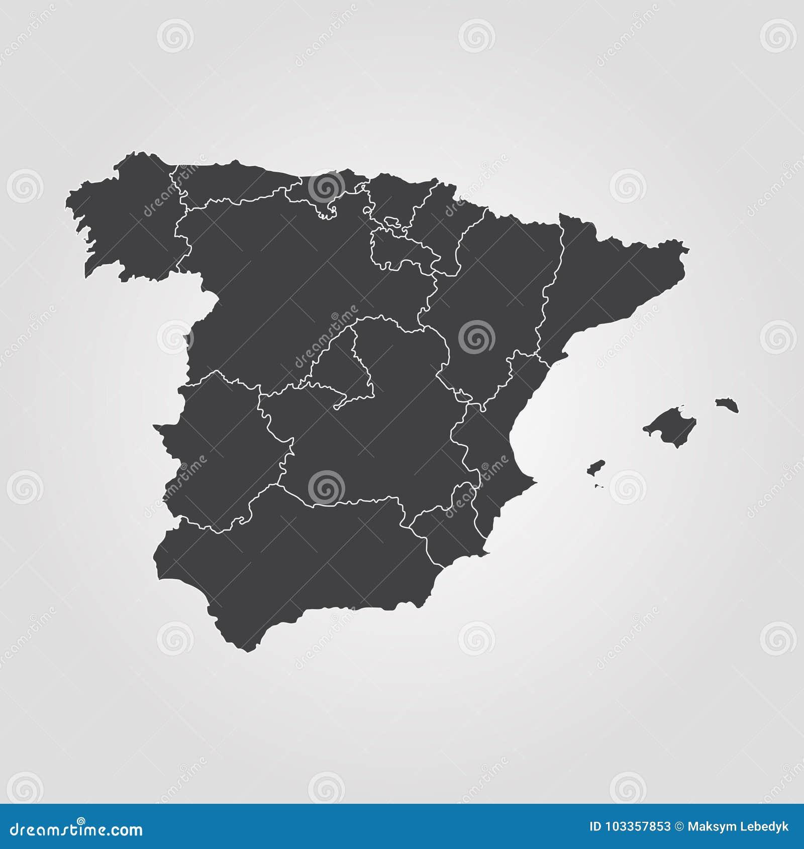 χάρτης Ισπανία