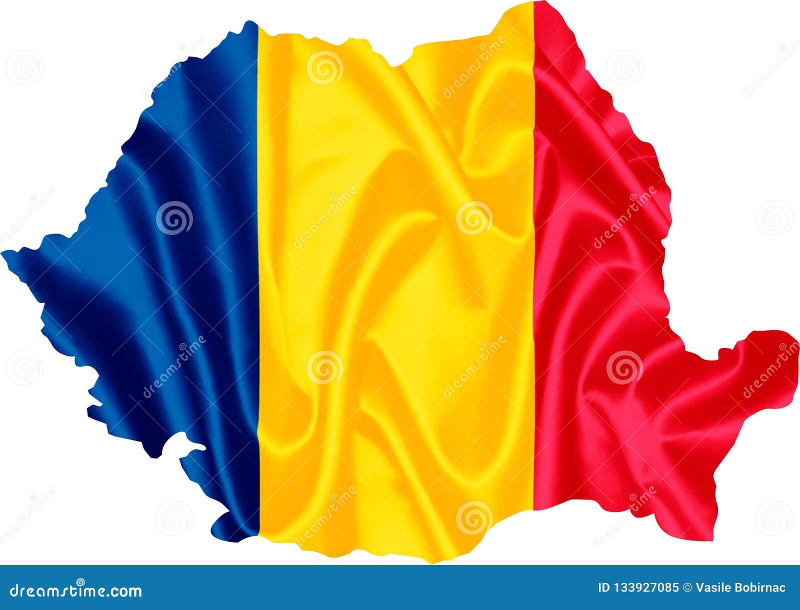 χάρτης Ρουμανία σημαιών