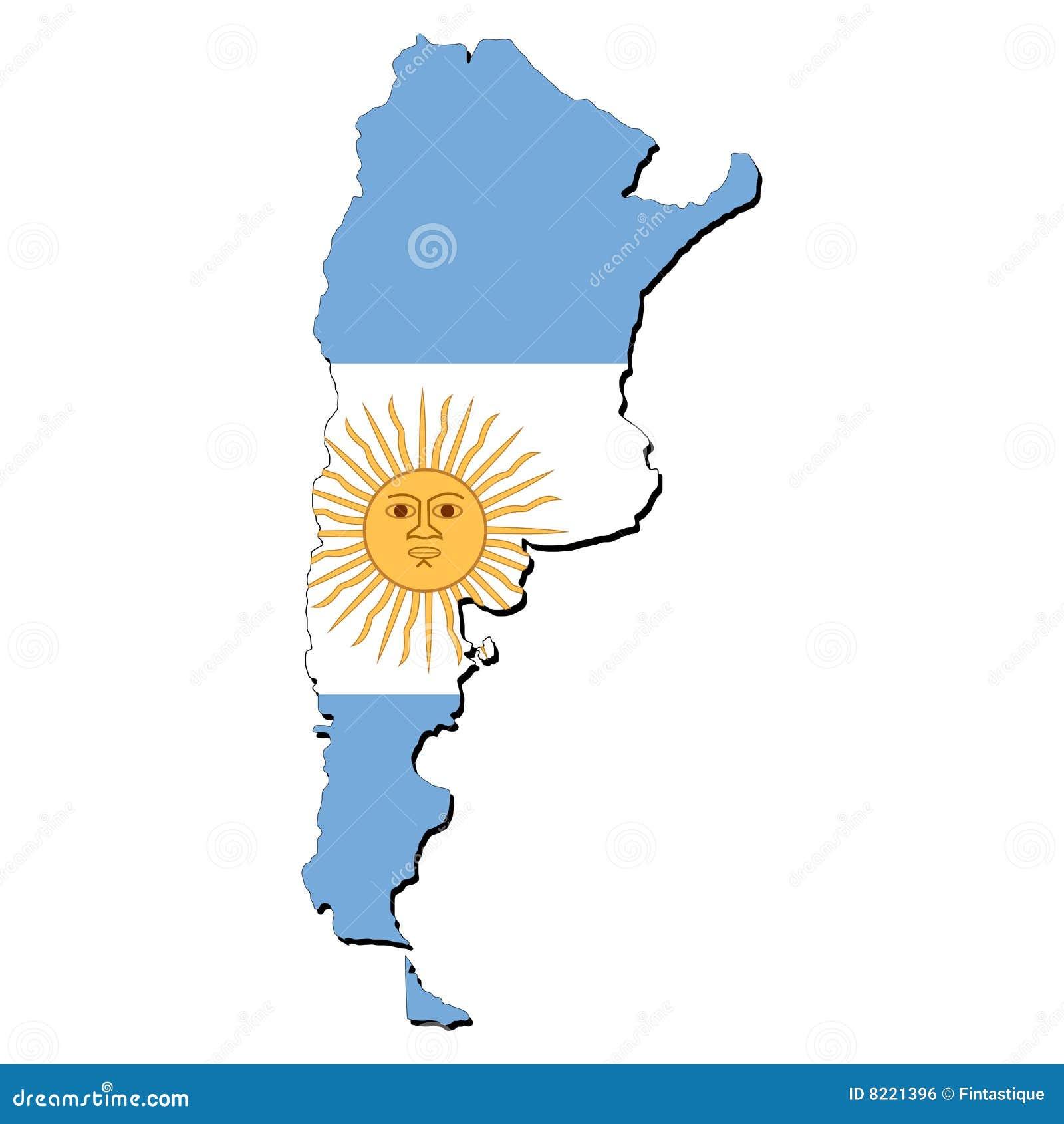 χάρτης σημαιών της Αργεντινής