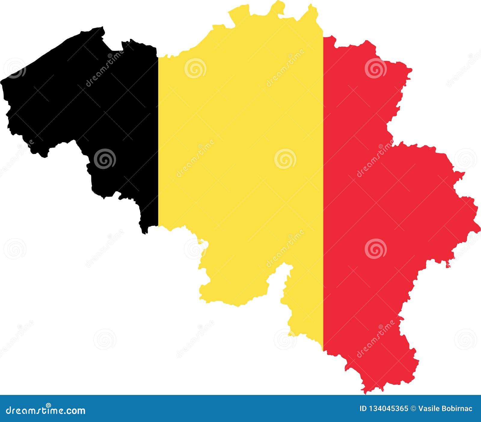 χάρτης σημαιών του Βελγίο&