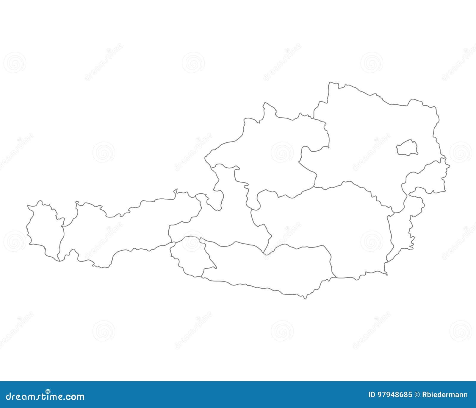 χάρτης της Αυστρίας