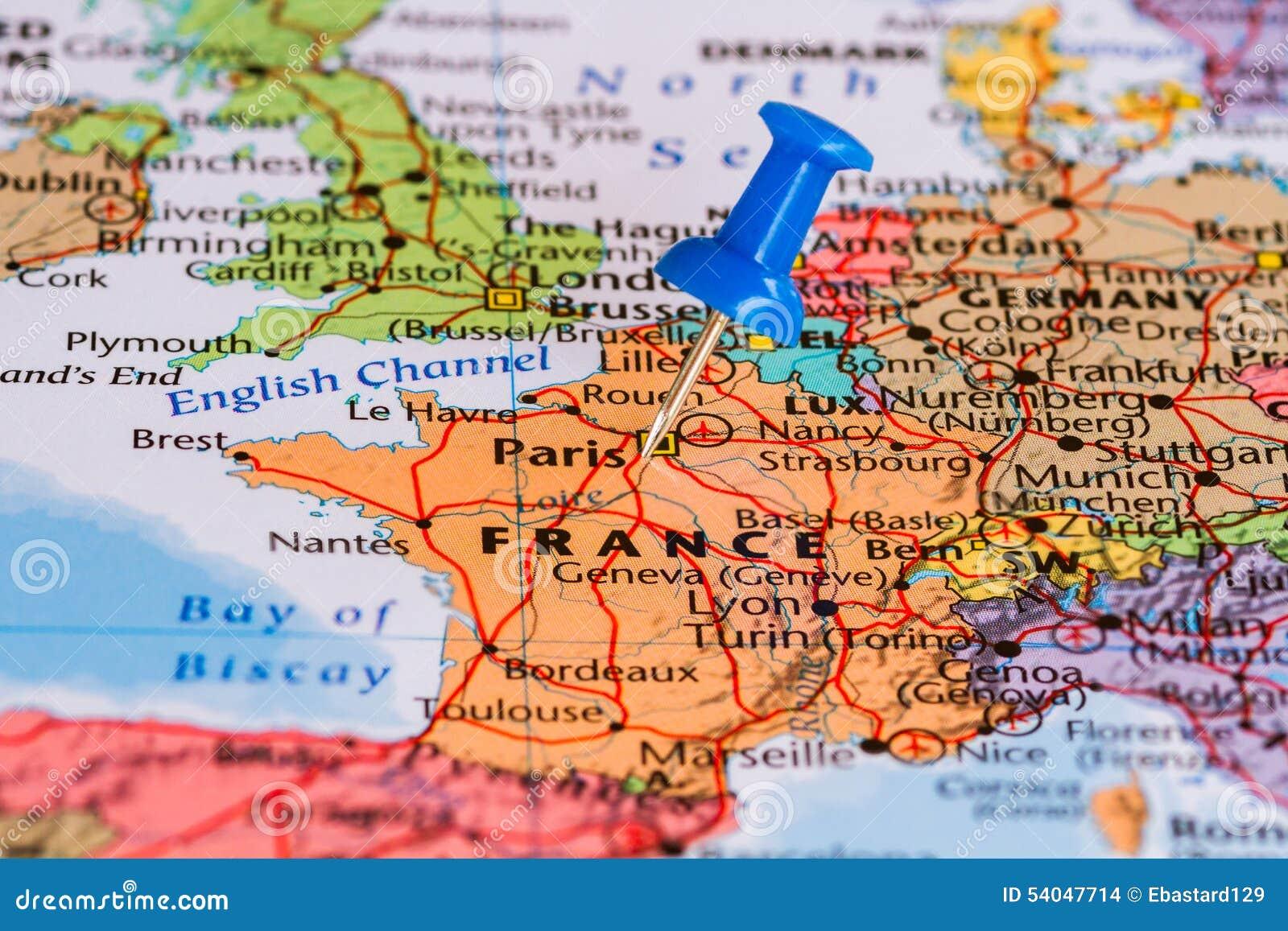 χάρτης της Γαλλίας στοκ εικόνες. εικόνα από χάρτης, γαλλίας - 54047714