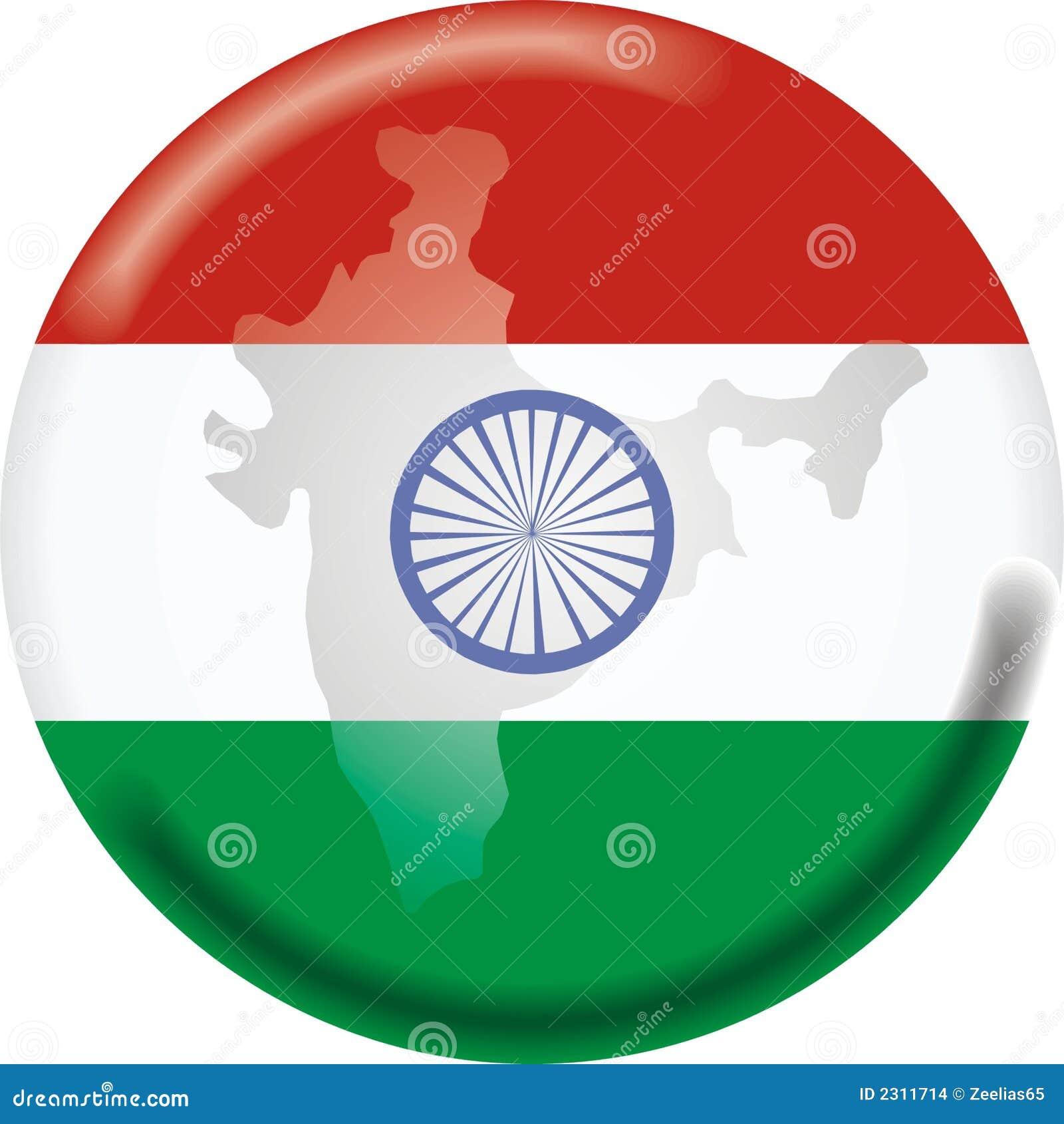 χάρτης της Ινδίας σημαιών