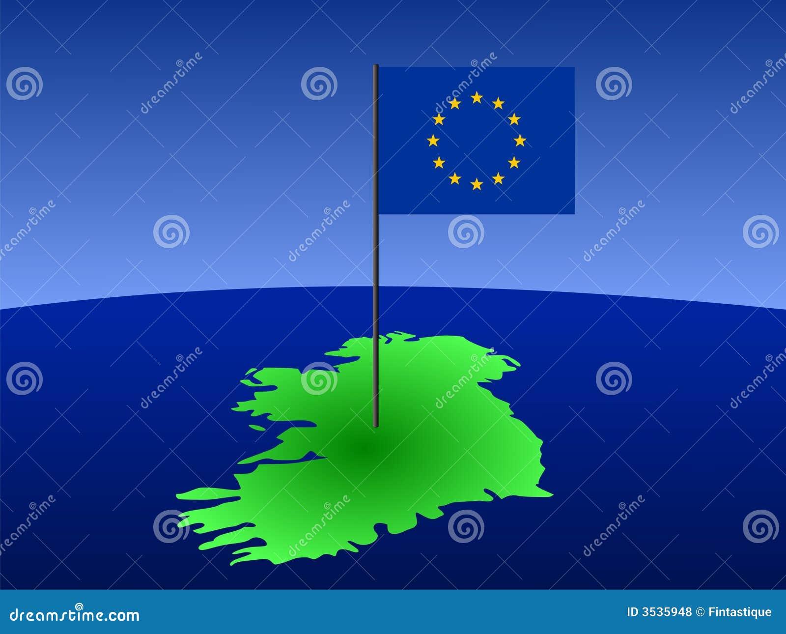 χάρτης της Ιρλανδίας σημαιών