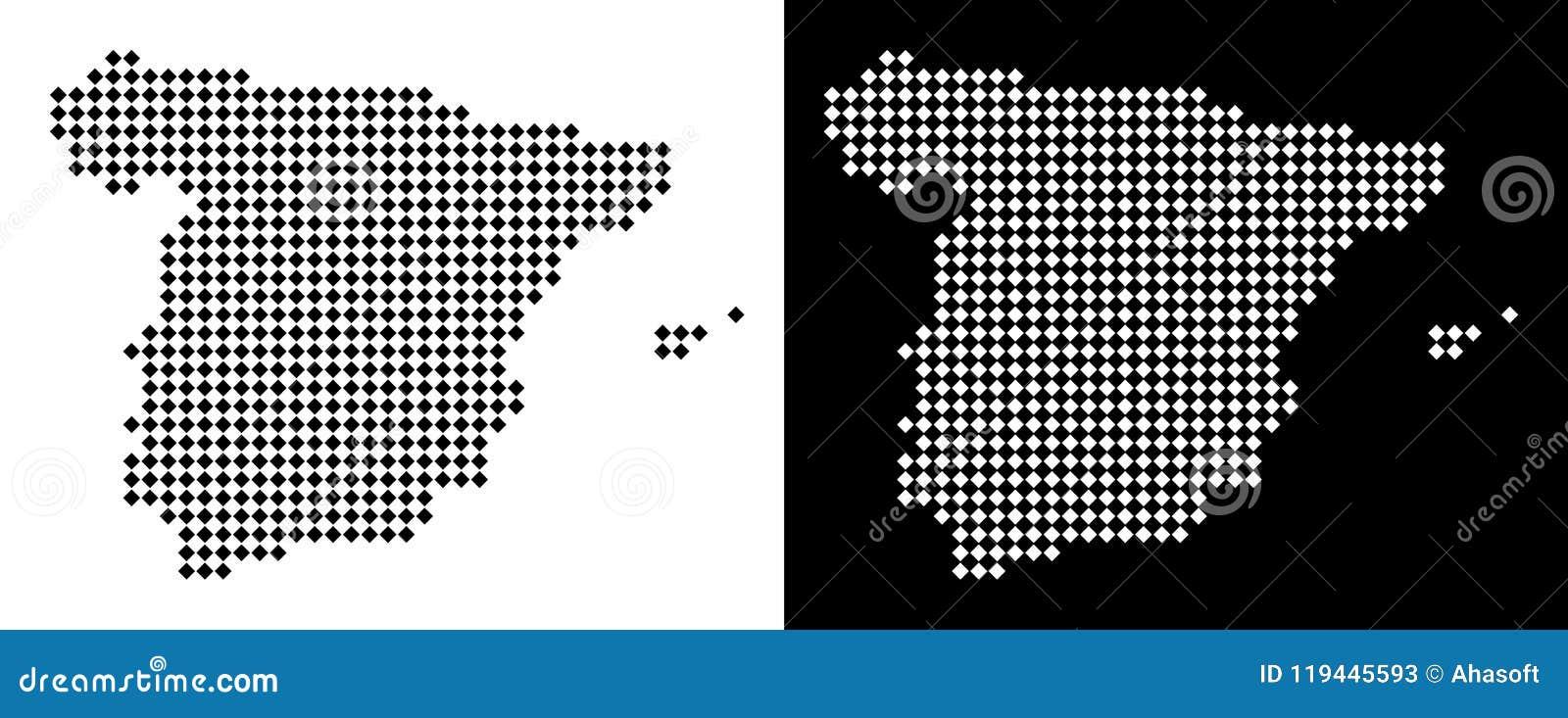 Χάρτης της Ισπανίας σημείων