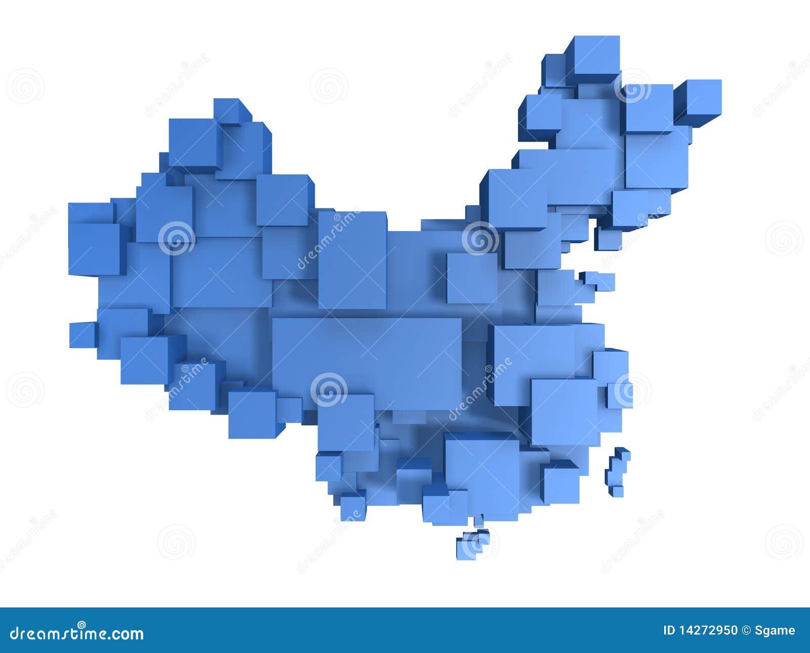 χάρτης της Κίνας κιβωτίων