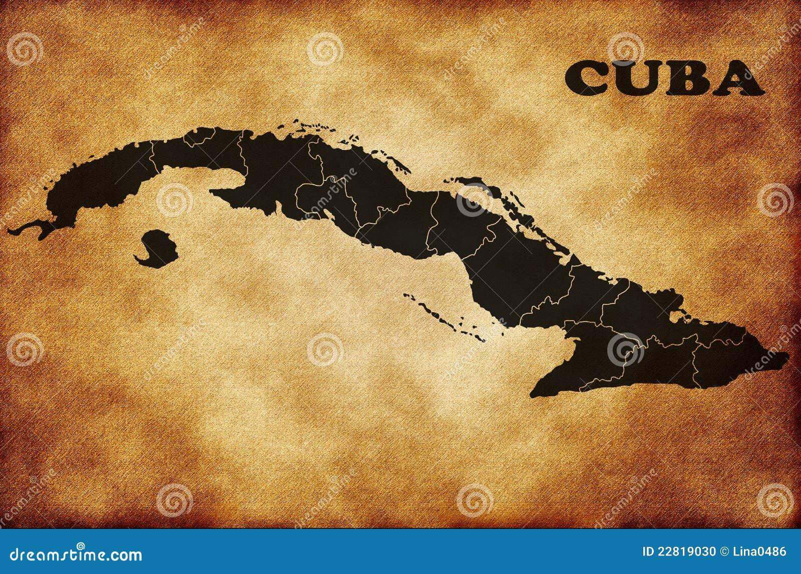 χάρτης της Κούβας