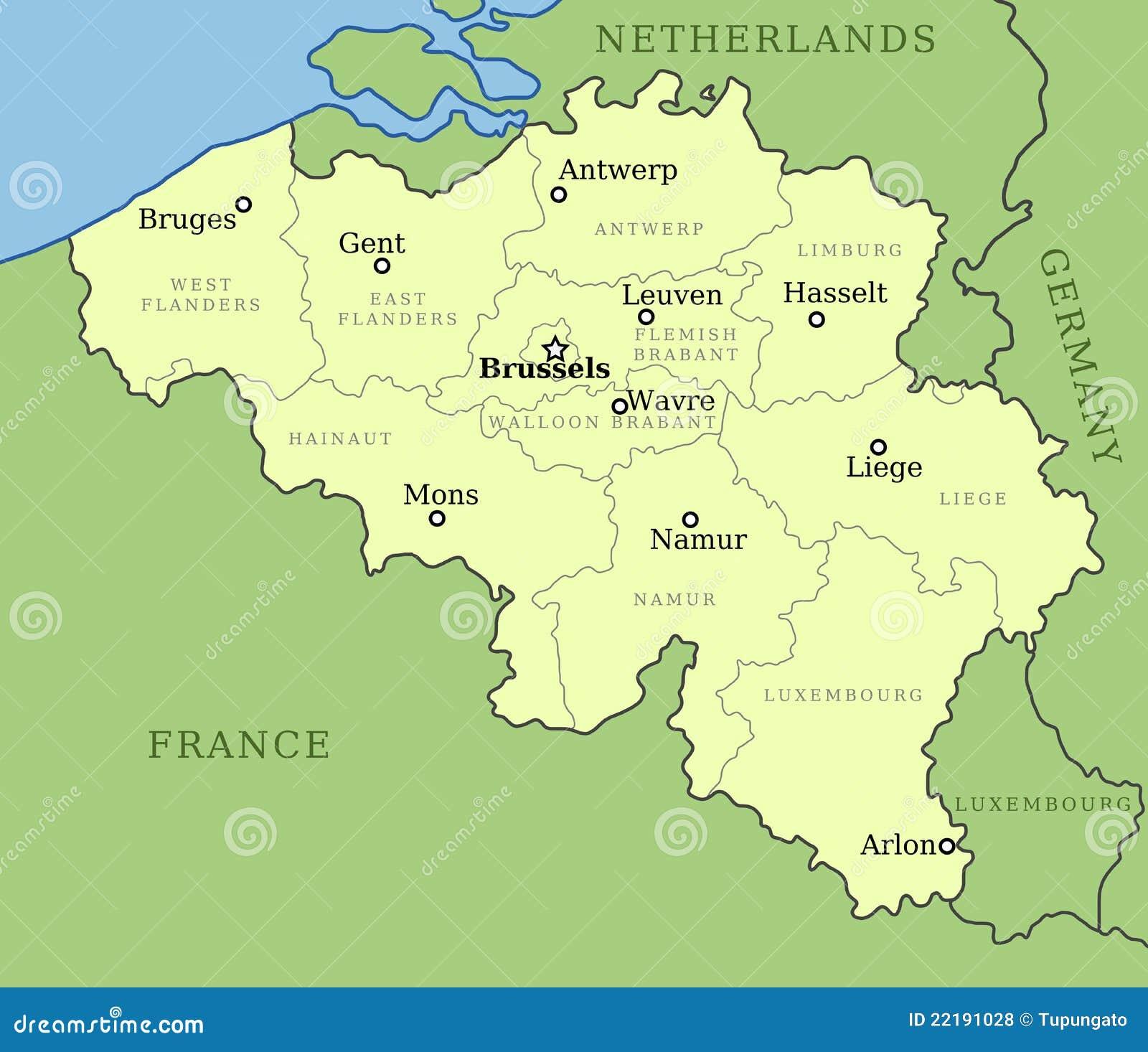 χάρτης του Βελγίου