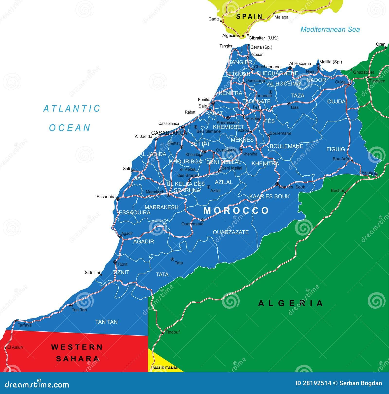 Χάρτης του Μαρόκου