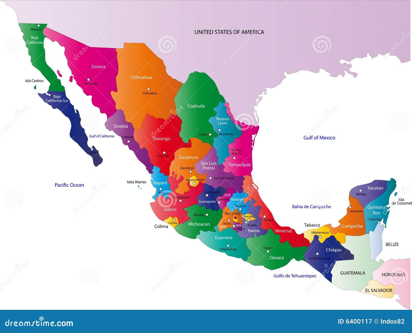 Χάρτης του Μεξικού