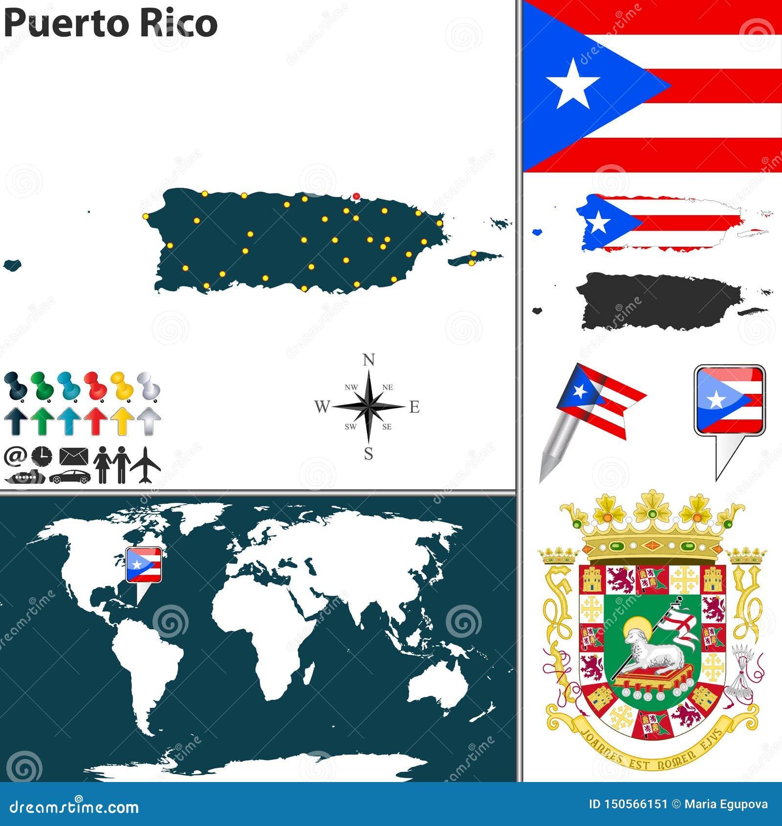 Χάρτης του Πουέρτο Ρίκο