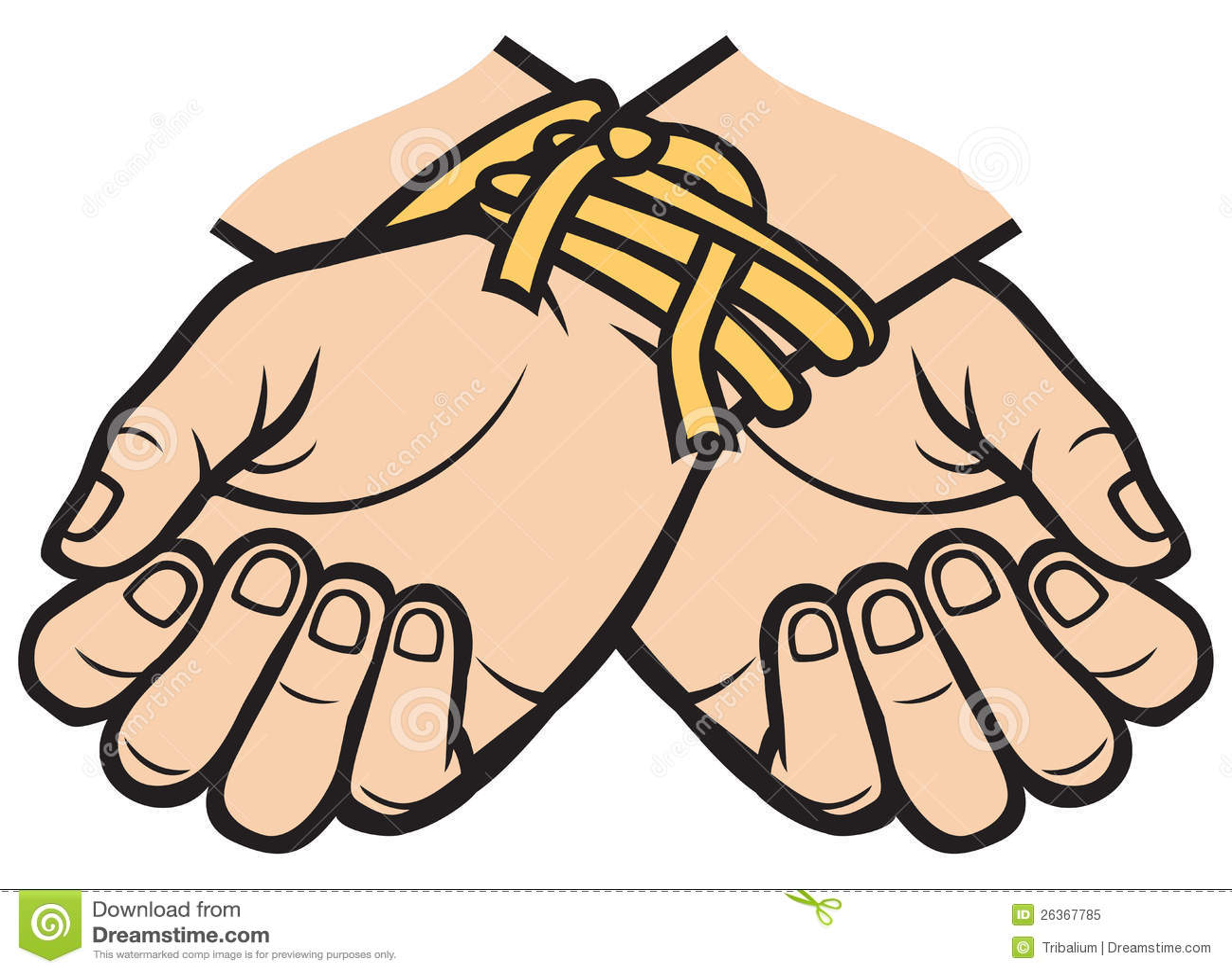 Χέρια που δένονται