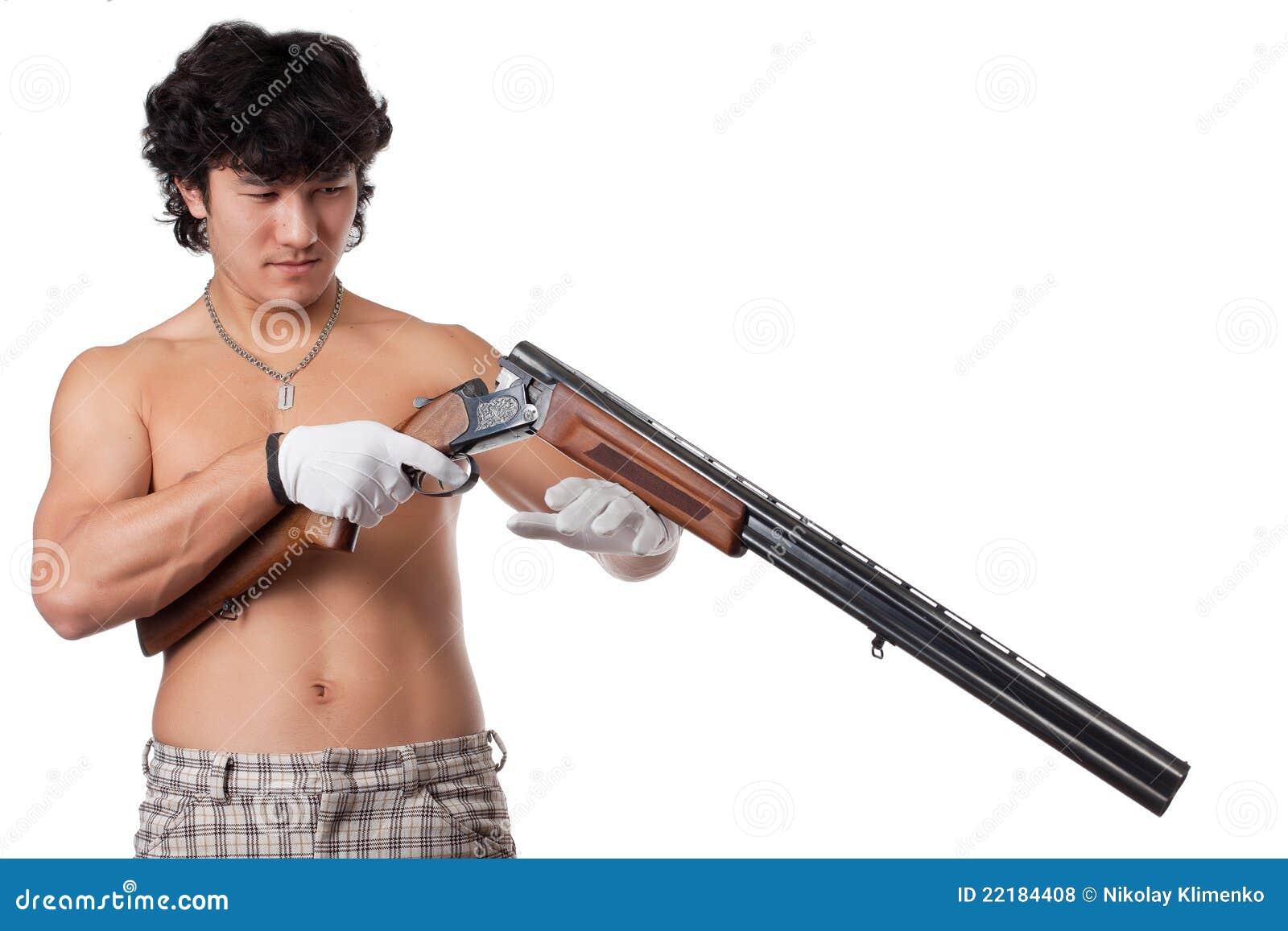 χέρια πυροβόλων όπλων που &ph