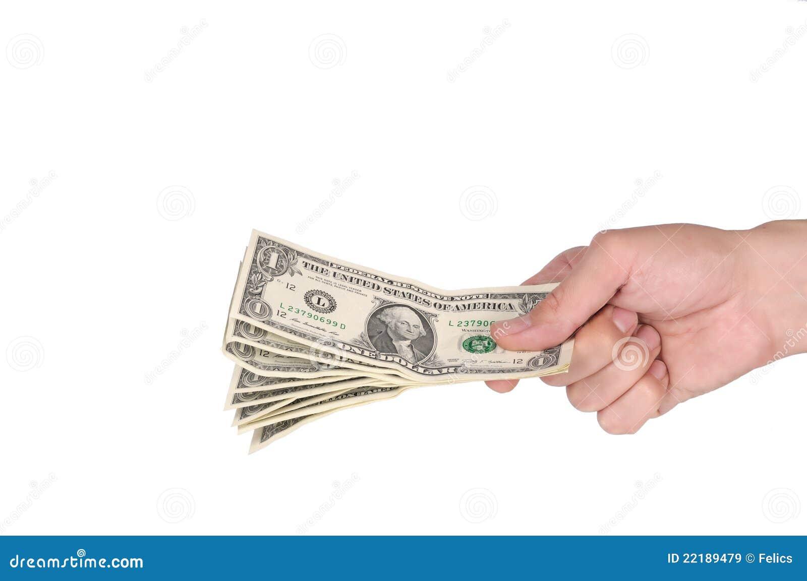 χέρι δολαρίων