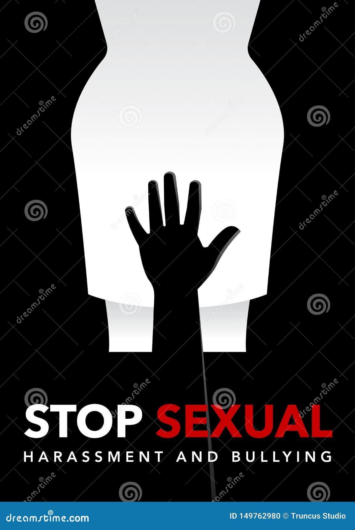 Χέρι ενός άνδρα που αγγίζει στη διανυσματική απεικόνιση περιοχής βουβώνων γυναικών