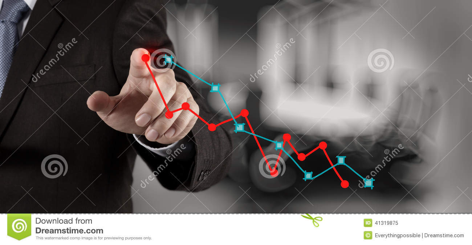 Χέρι επιχειρηματιών που λειτουργεί με νέο σύγχρονο