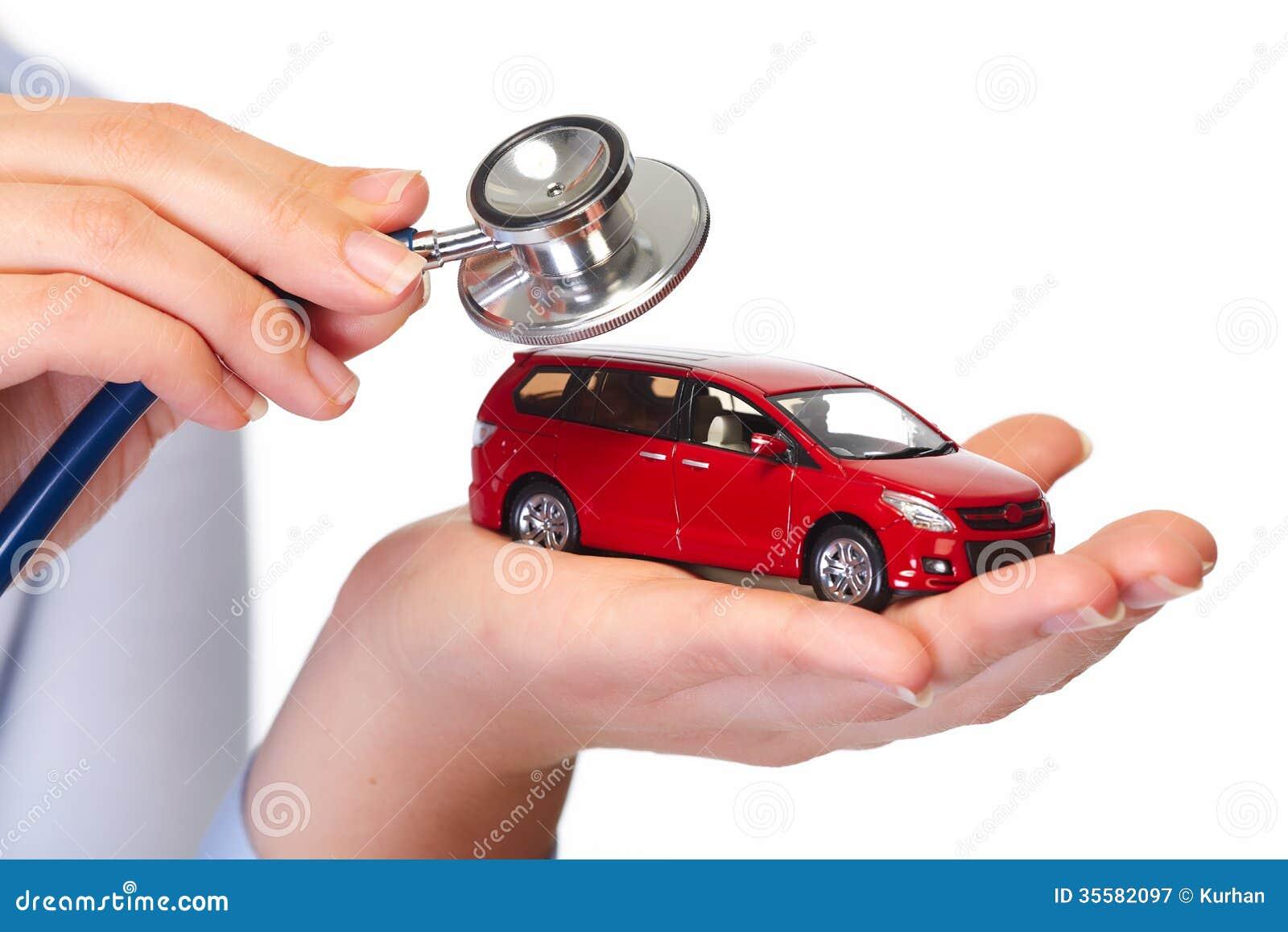 Χέρι με το αυτοκίνητο.