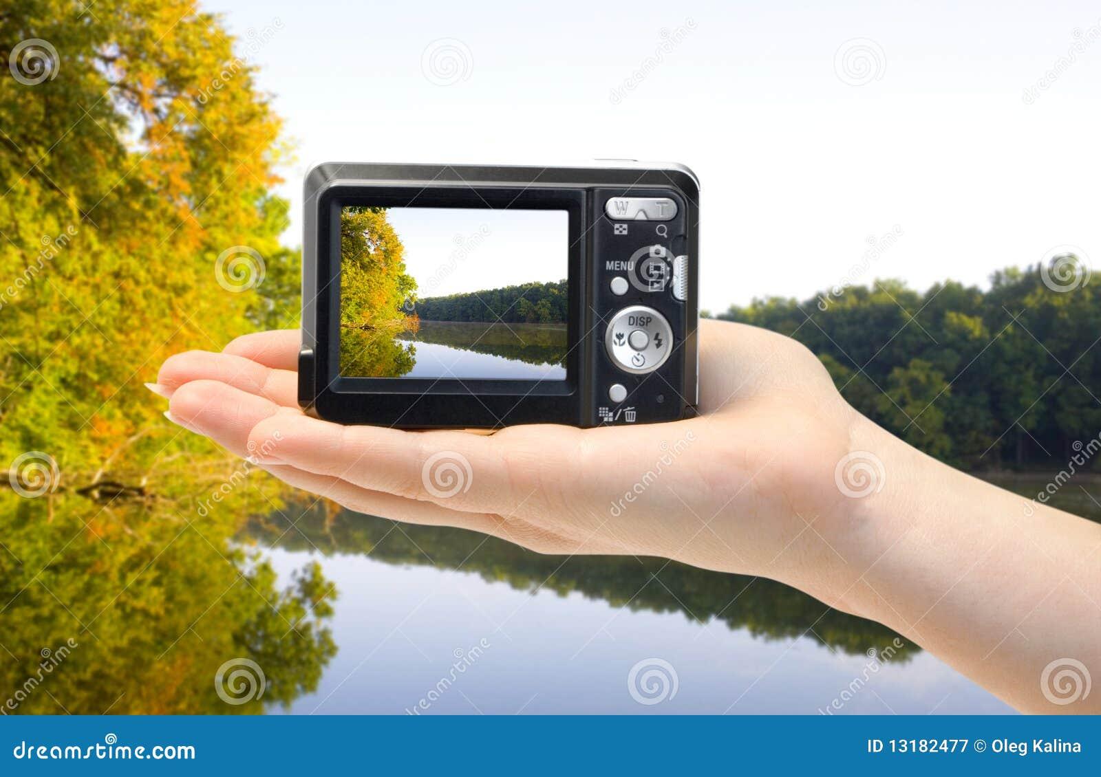 χέρι φωτογραφικών μηχανών