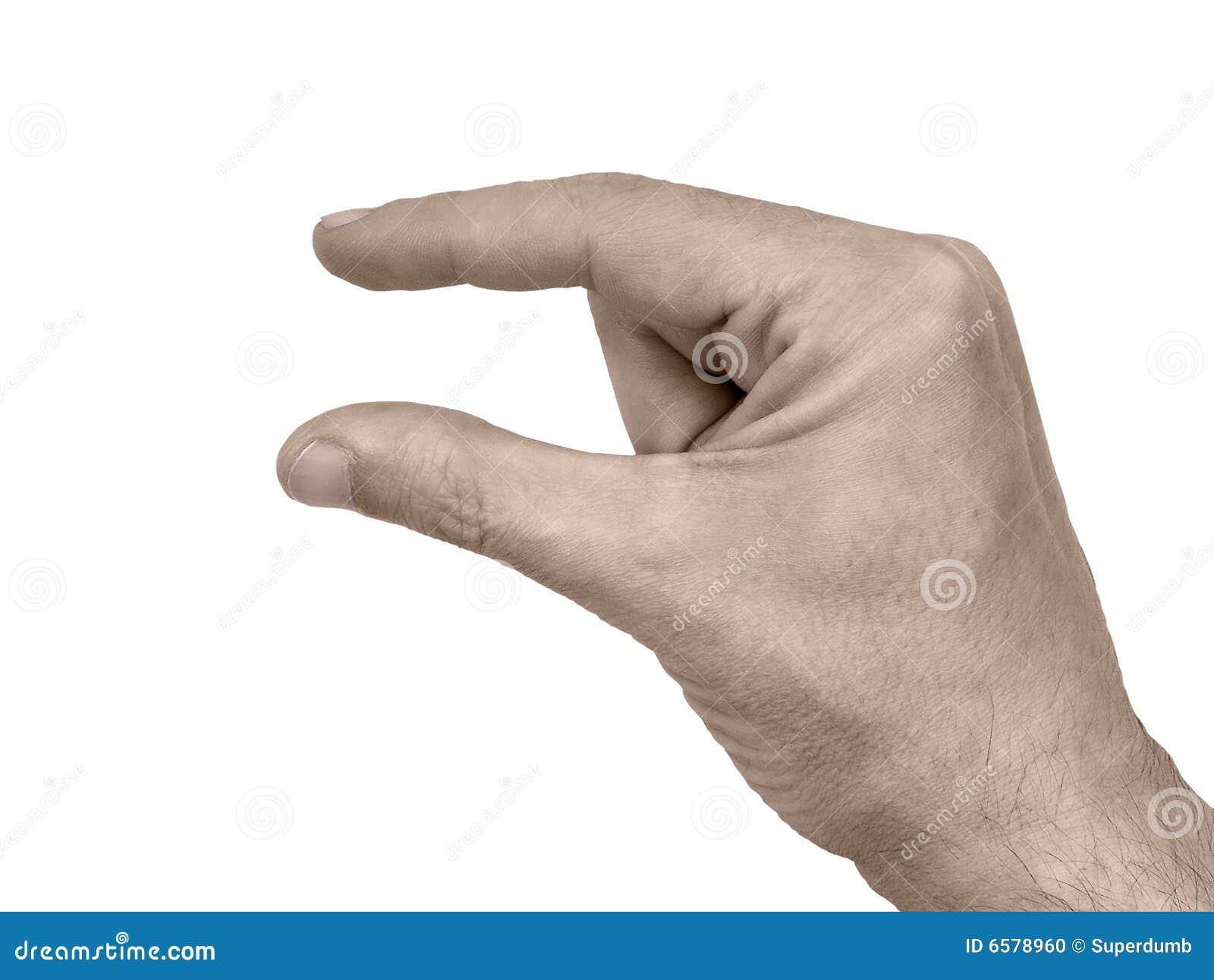 χέρι χειρονομίας ακριβώς λίγα