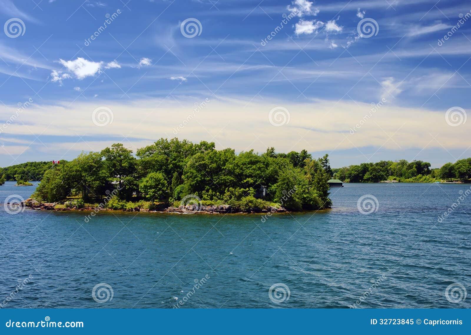 Χίλιο εθνικό πάρκο Οντάριο Καναδάς νησιών κοντά στο Κίνγκστον