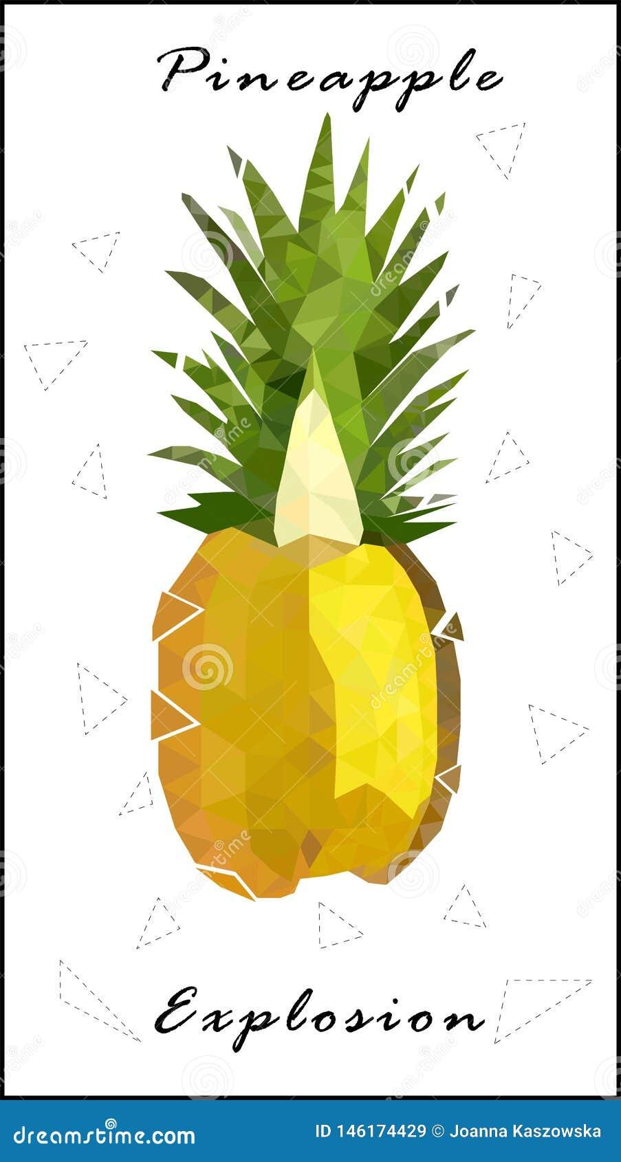 Χαμηλή πολυ έκρηξη ανανά ανανά