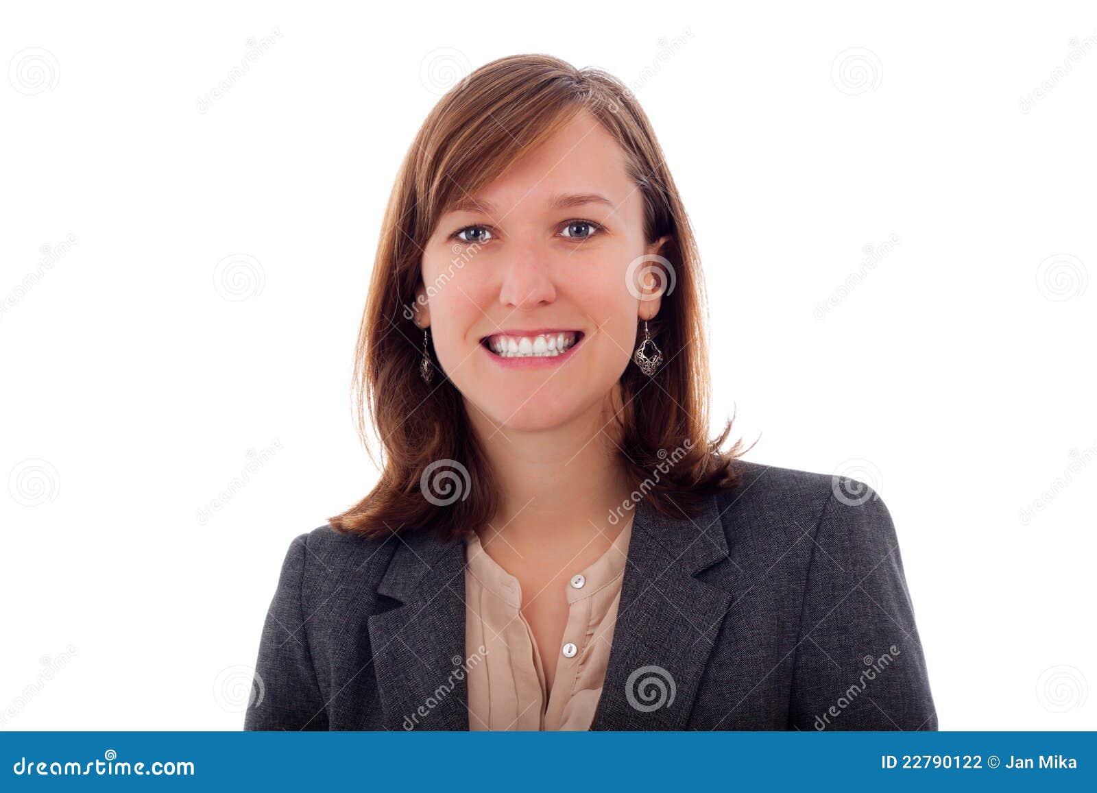 χαμογελώντας γυναίκα επιχειρησιακού πορτρέτου