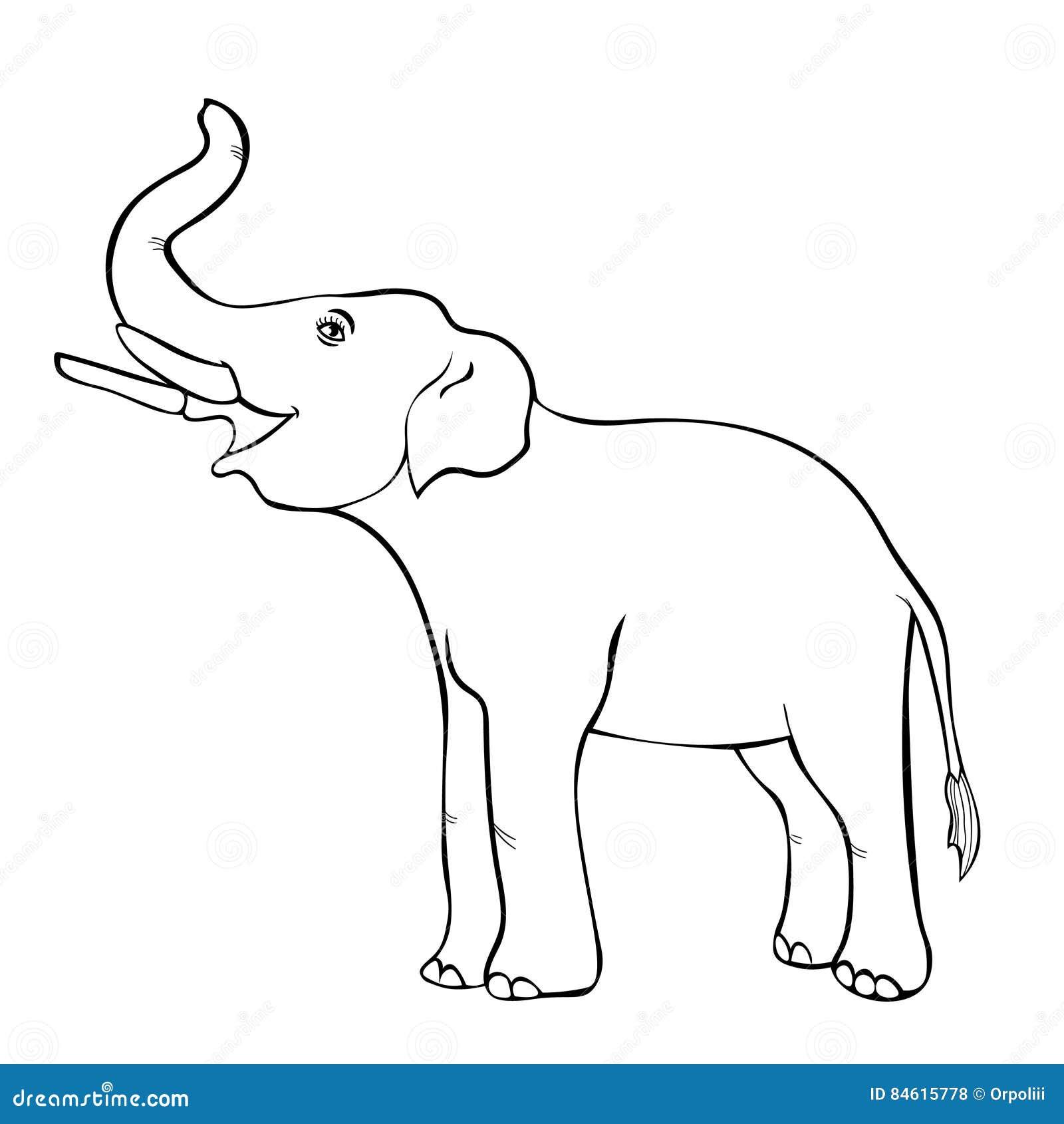 Χαμογελώντας τον ελέφαντα λοξά επάνω ο κορμός επίσης corel σύρετε το διάνυσμα απεικόνισης