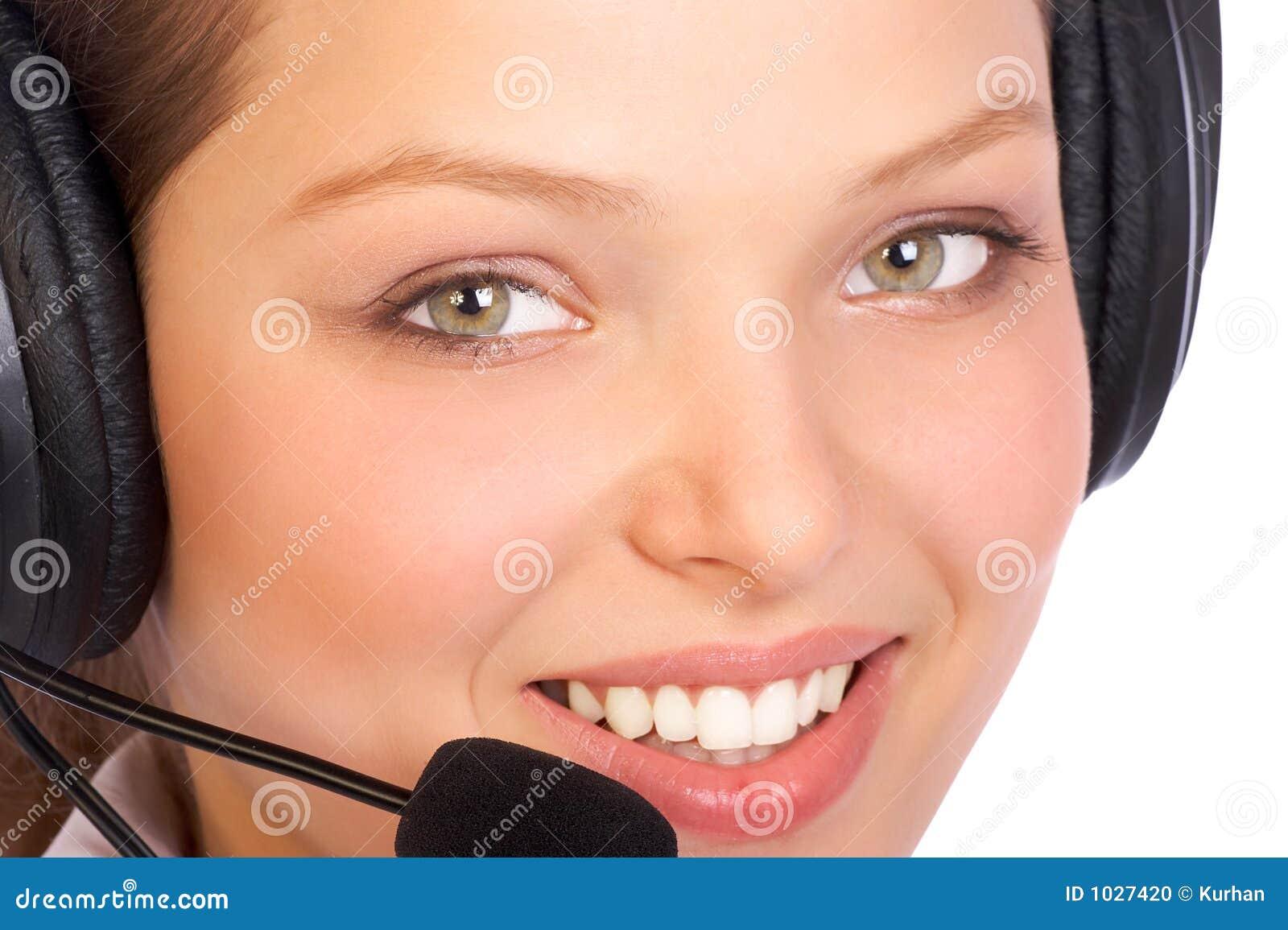 χαμόγελο χειριστών τηλε&ph