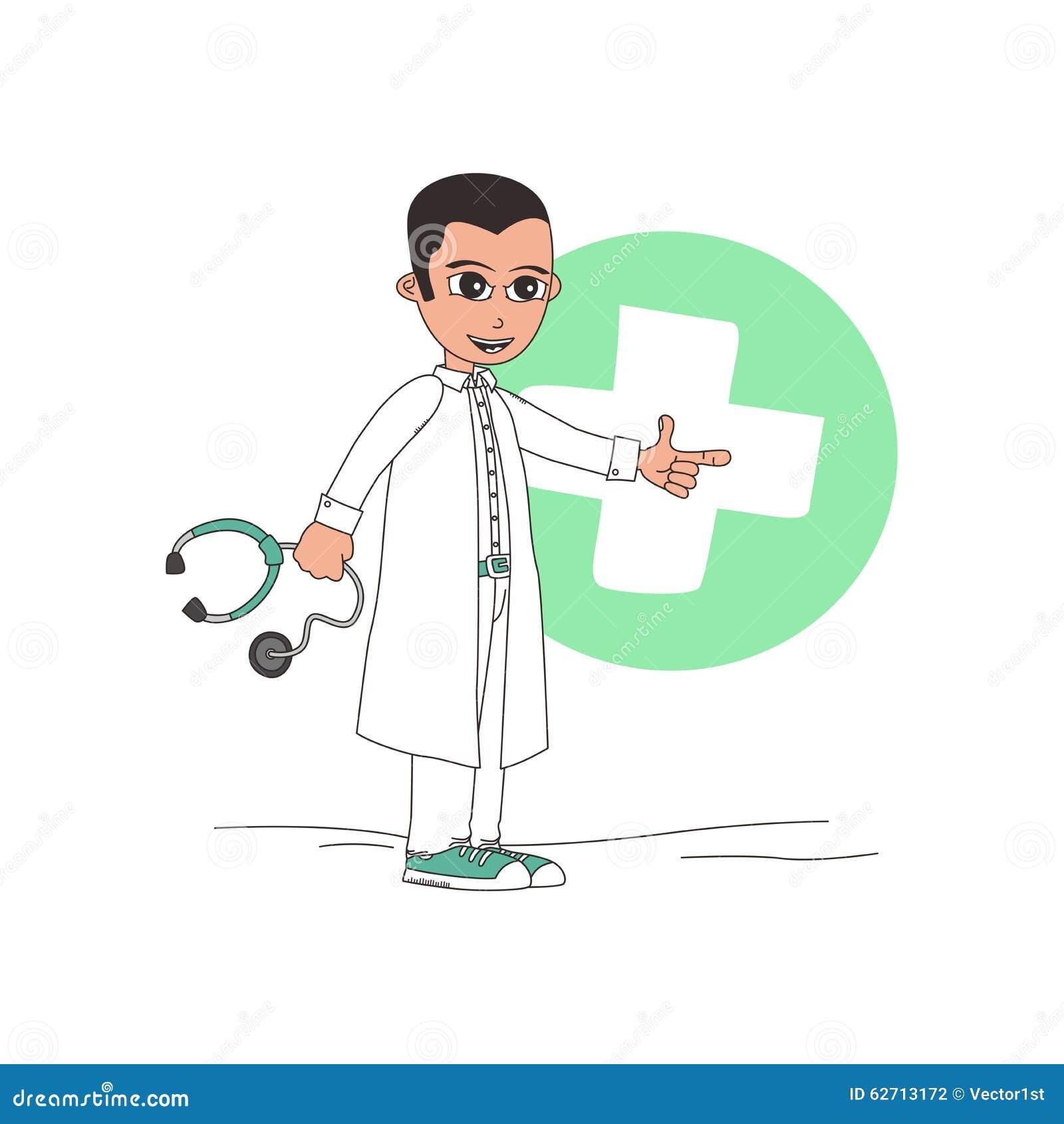 Χαρακτήρας κινουμένων σχεδίων γιατρών